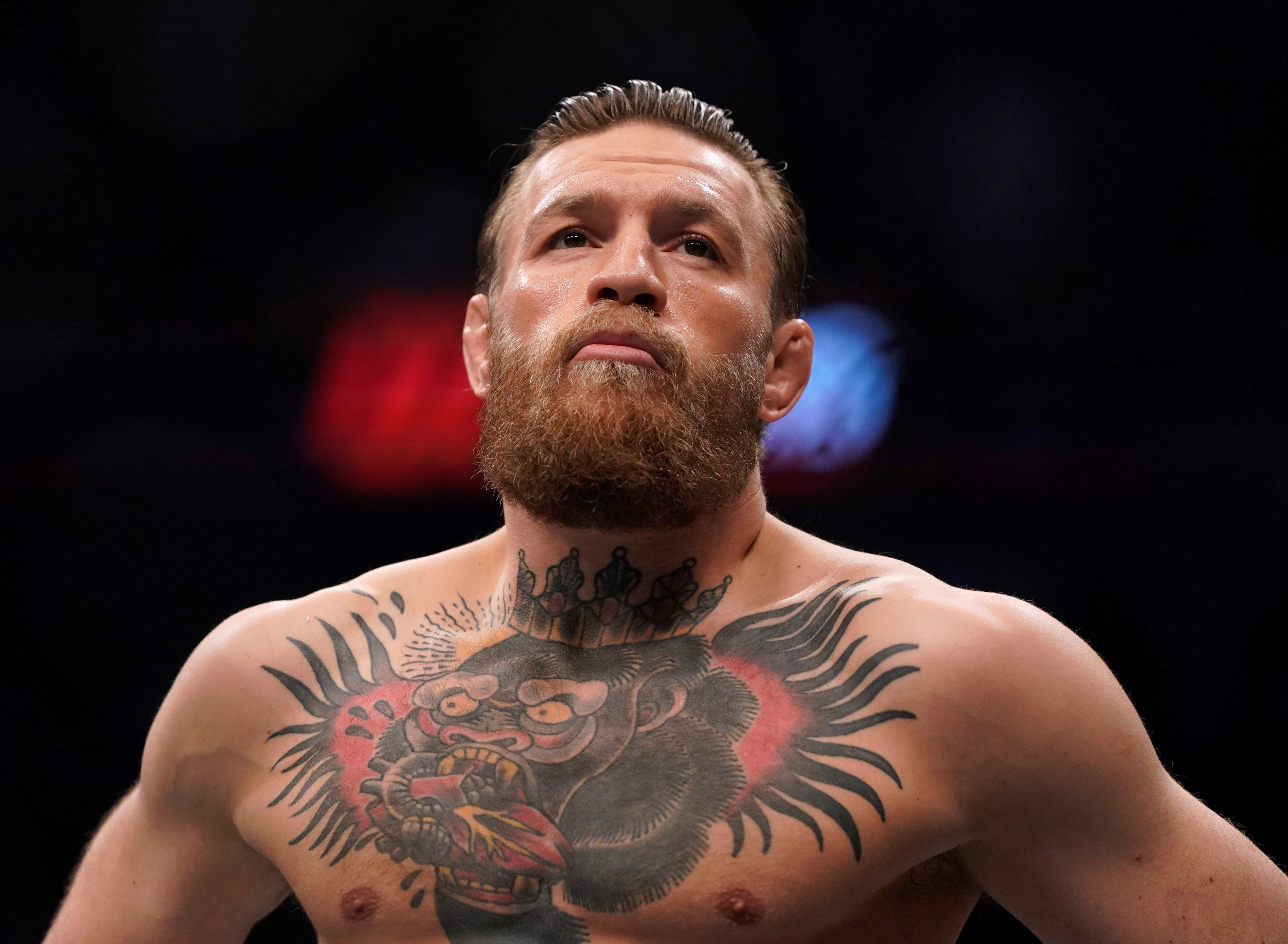 MMA Mixed Martial Arts - UFC 246 - Welterweight - Conor McGregor v Donald Cerrone - T-Mobile Arena, Las Vegas, United States - January 18, 2020  Conor McGregor before his fight against Donald Cerrone  REUTERS/Mike Blake