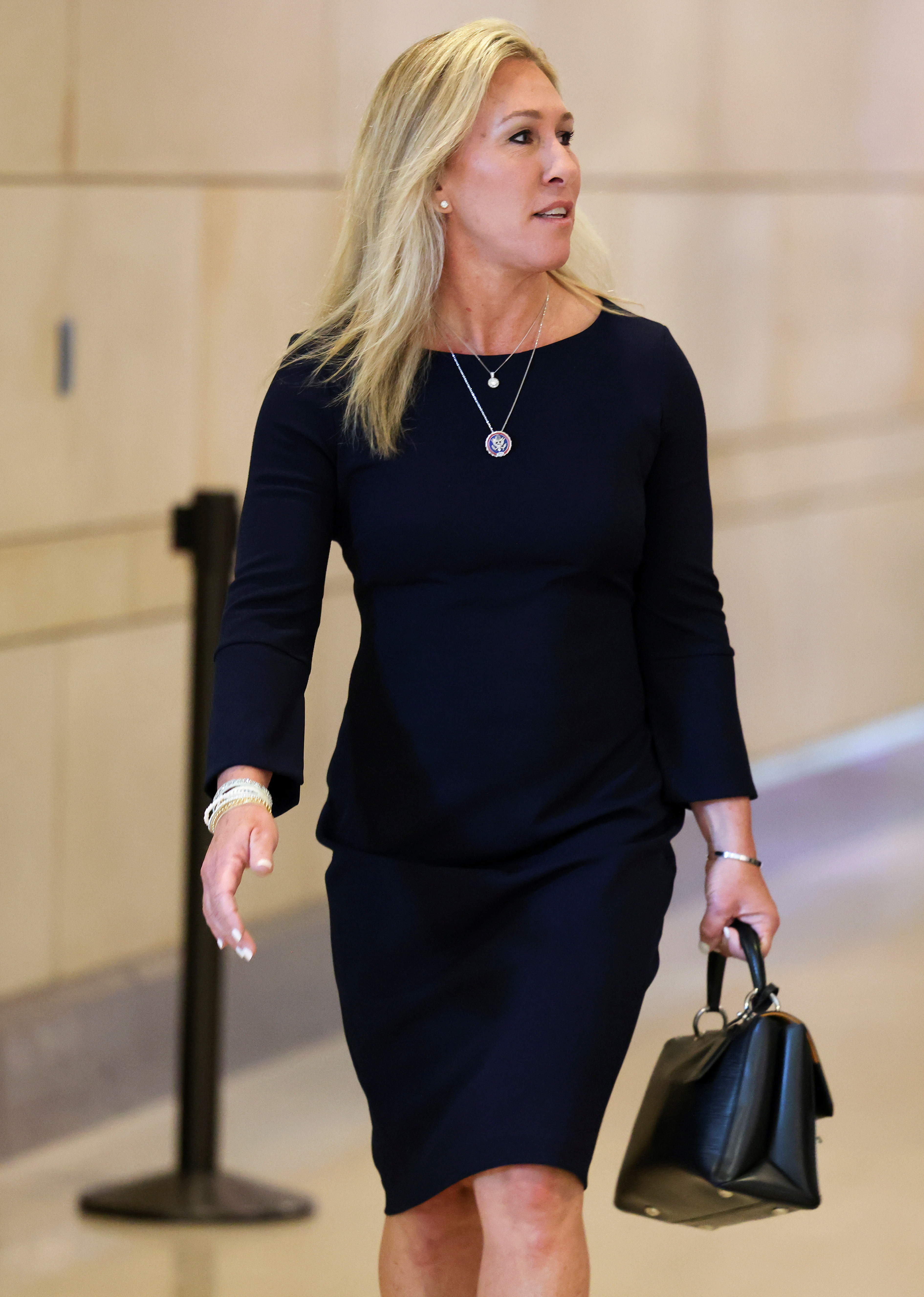 Georgia Congresswoman Marjorie Taylor Greene arrives on Capitol Hill in Washington, U.S., May 12, 2021. REUTERS/Evelyn Hockstein