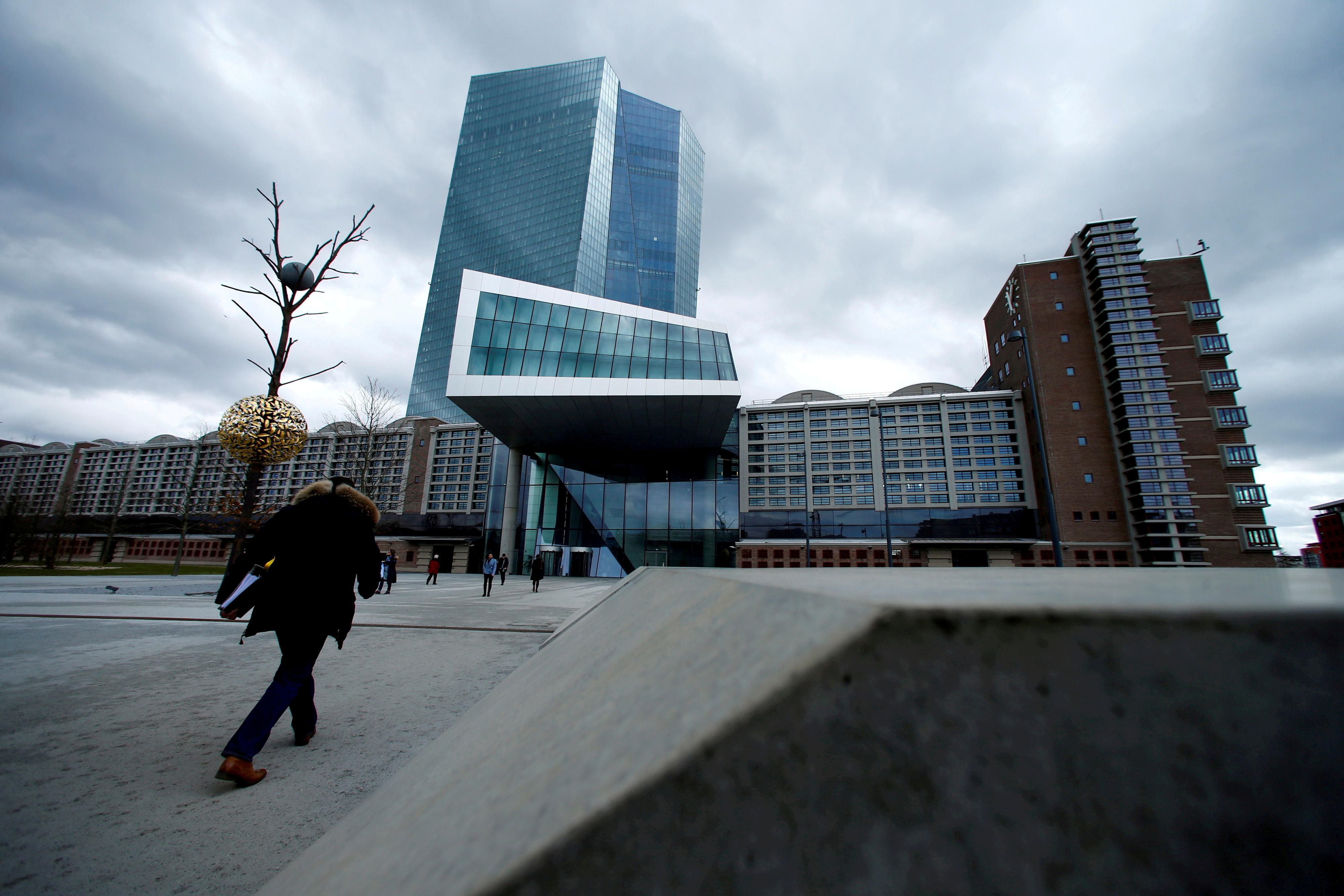 European Central Bank (ECB) headquarters building is seen in Frankfurt, Germany, March 7, 2018. REUTERS/Ralph Orlowski/File Photo