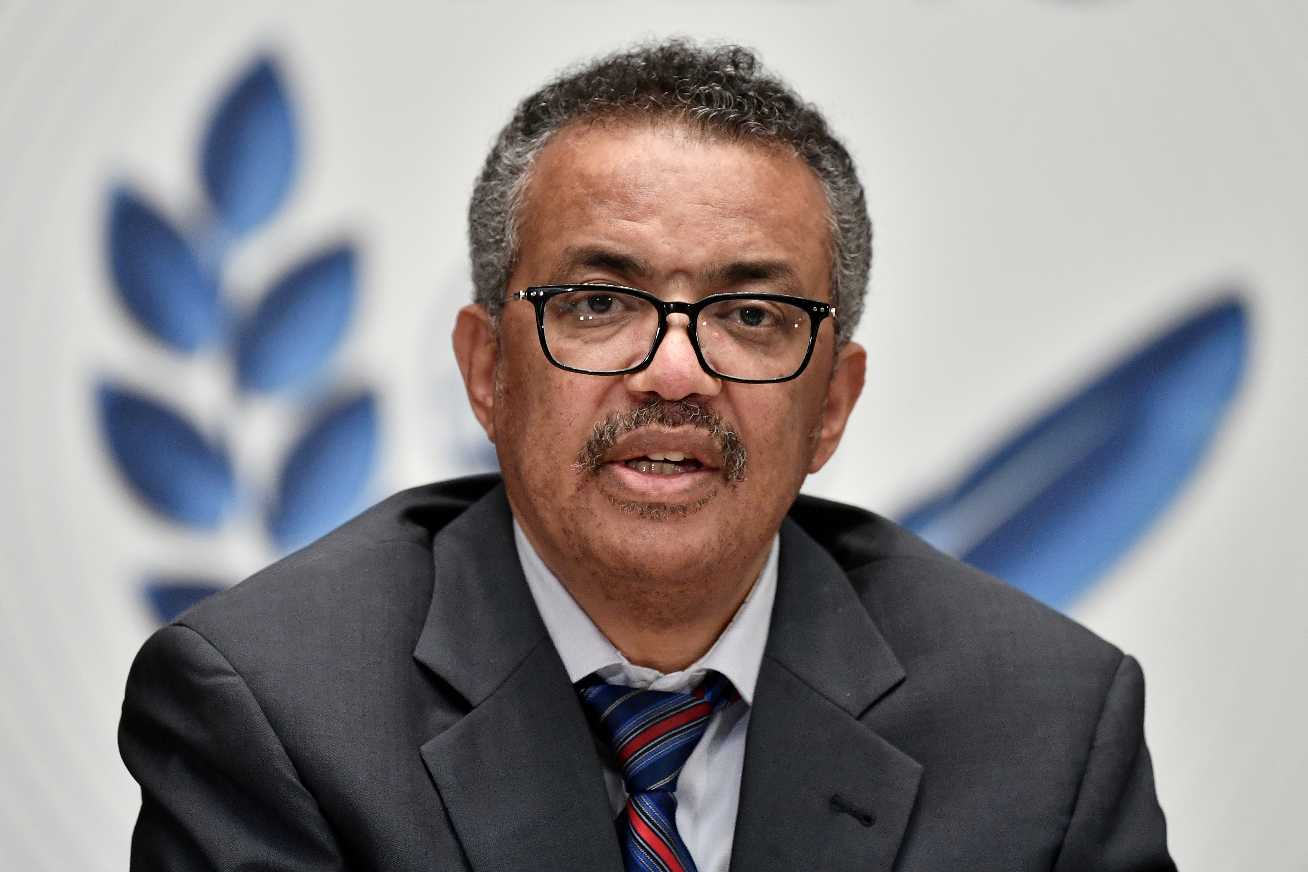World Health Organization (WHO) Director-General Tedros Adhanom Ghebreyesus attends a news conference organized by Geneva Association of United Nations Correspondents (ACANU) amid the COVID-19 outbreak, caused by the novel coronavirus, at the WHO headquarters in Geneva Switzerland July 3, 2020. Fabrice Coffrini/Pool via REUTERS/File Photo
