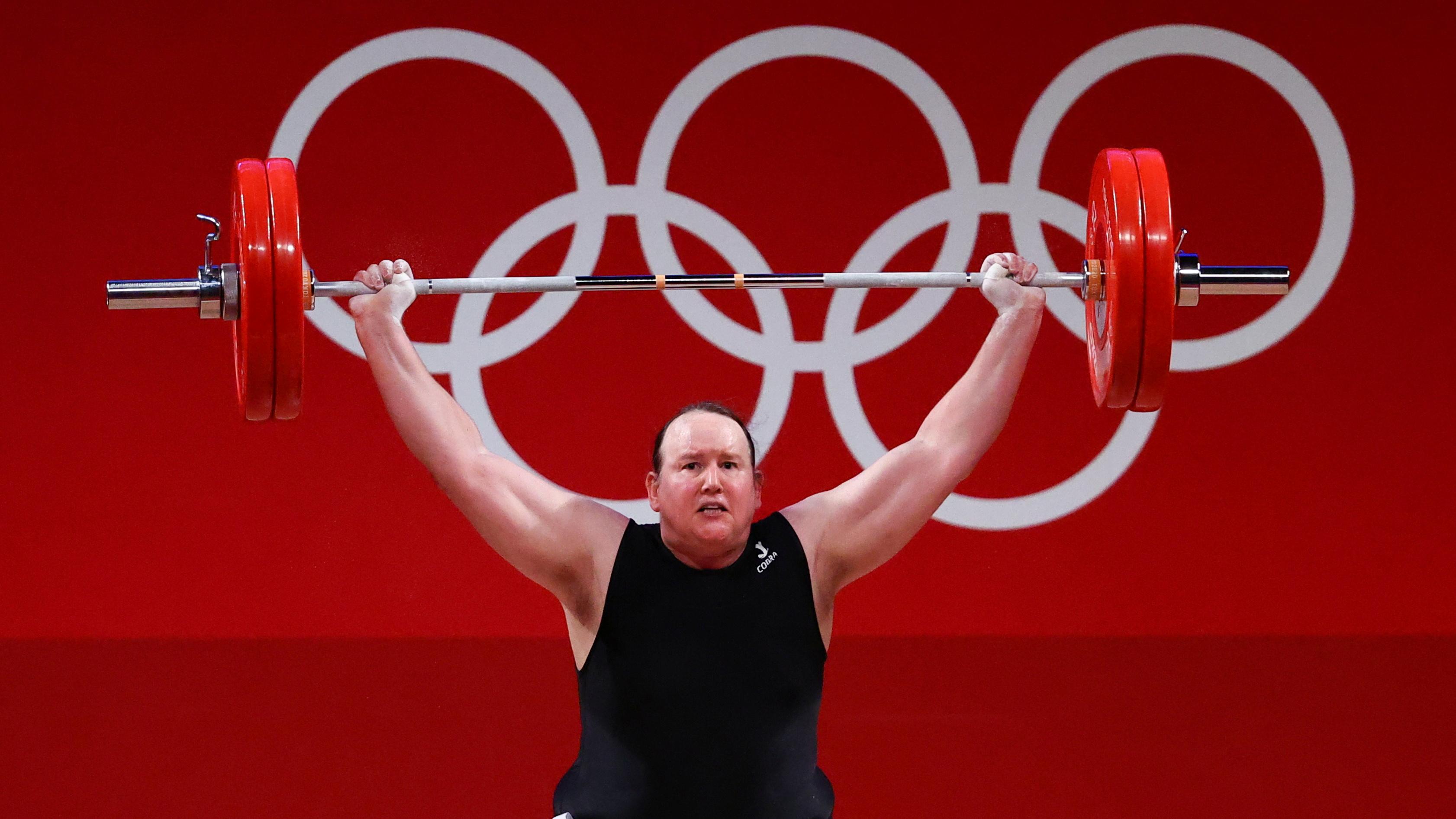 Tokyo 2020 Olympics - Weightlifting - Women's +87kg - Group A - Tokyo International Forum, Tokyo, Japan - August 2, 2021. Laurel Hubbard of New Zealand in action. REUTERS/Edgard Garrido