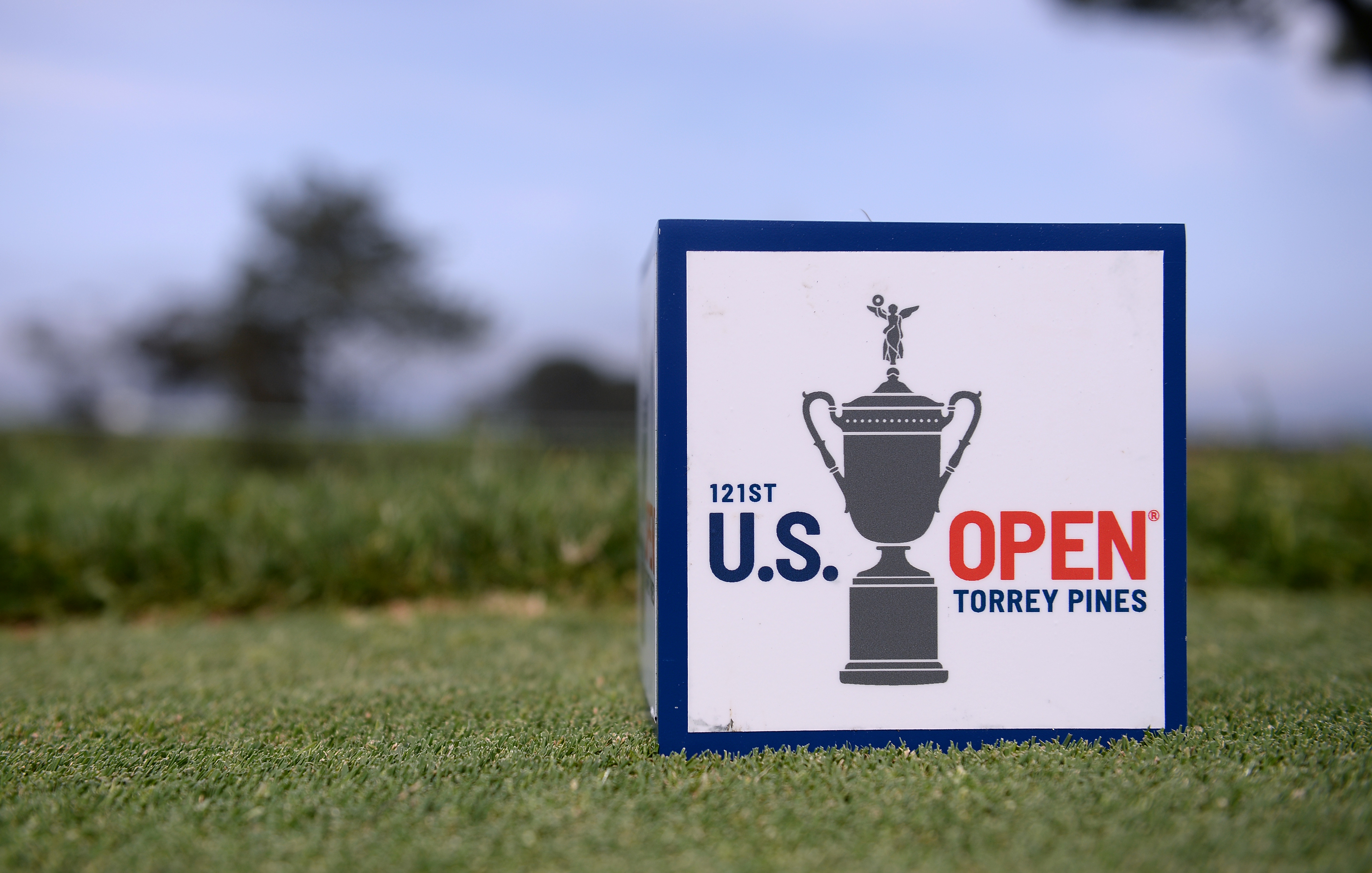 Jun 16, 2021; San Diego, California, USA; A detailed view of a tee box marker during a practice round of the U.S. Open golf tournament at Torrey Pines. Mandatory Credit: Orlando Ramirez-USA TODAY Sports