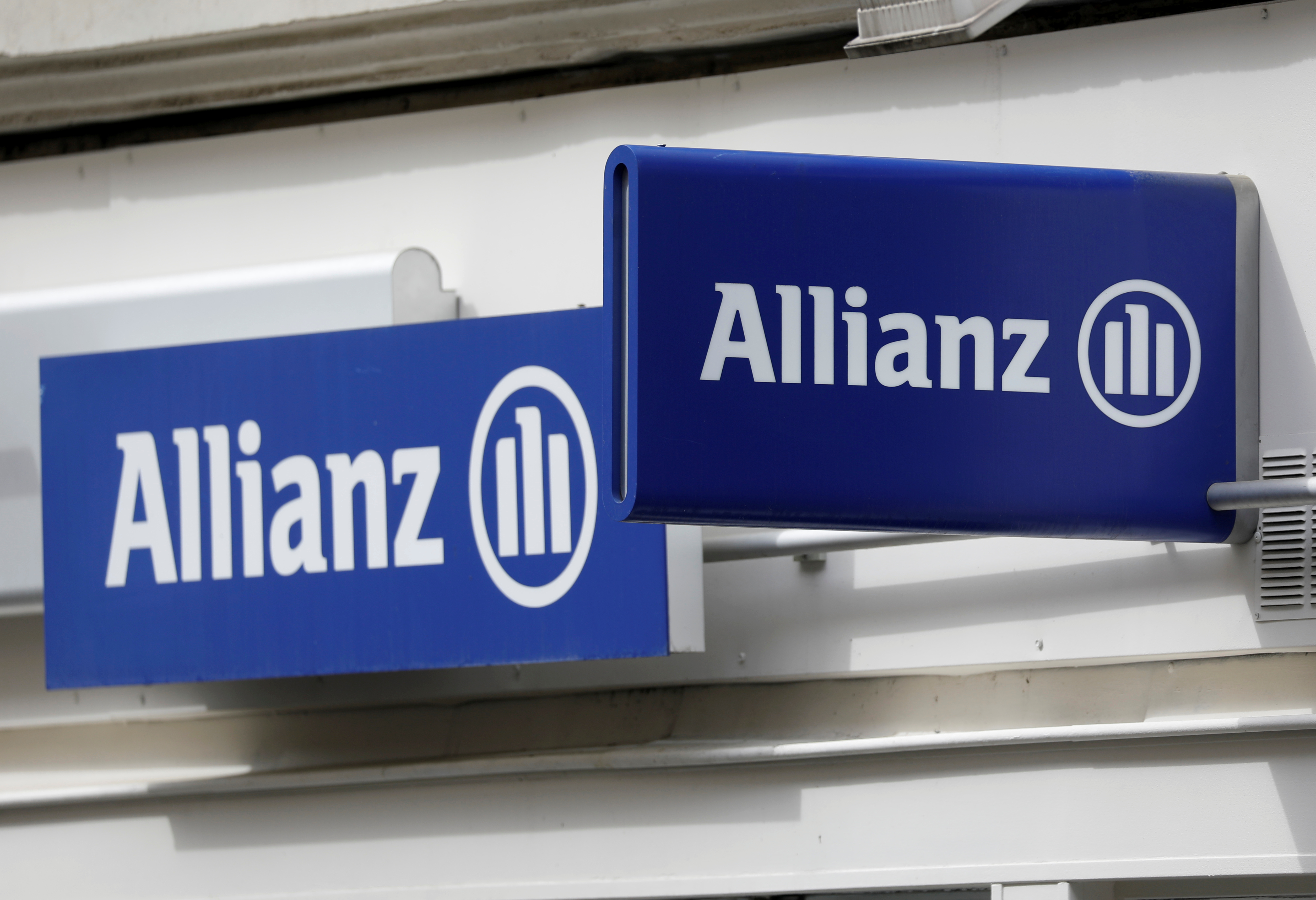 The logo of Allianz is seen on a building in Paris, France, April 30, 2020.  REUTERS/Charles Platiau