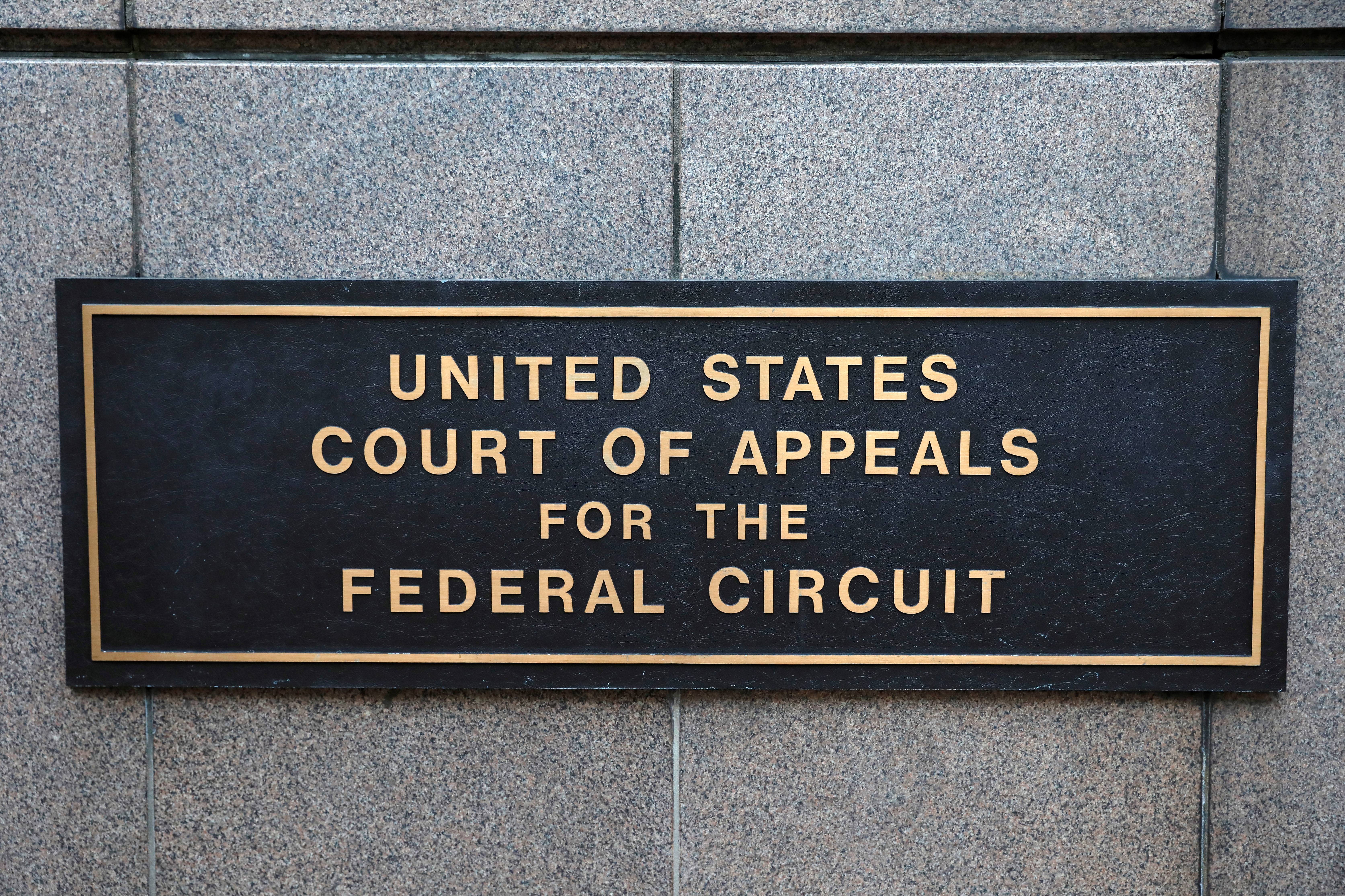 The United States Court of Appeals for the Federal Circuit is seen in Washington, D.C., U.S., August 30, 2020. REUTERS/Andrew Kelly