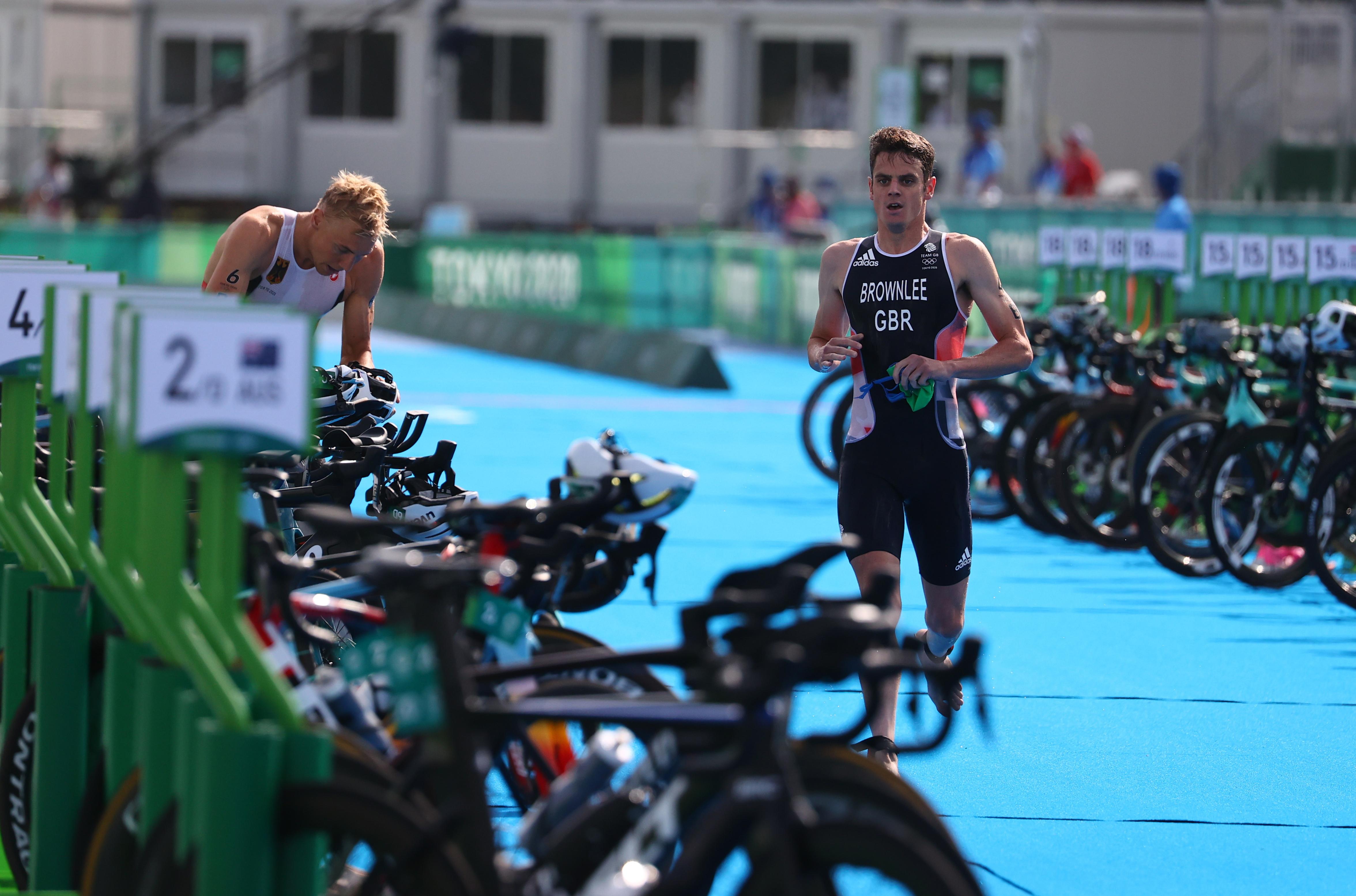 Tokyo 2020 Olympics - Triathlon - Mixed Team Relay - Final - Odaiba Marine Park, Tokyo, Japan - July 31, 2021. Jonathan Brownlee of Britain in action REUTERS/Thomas Peter