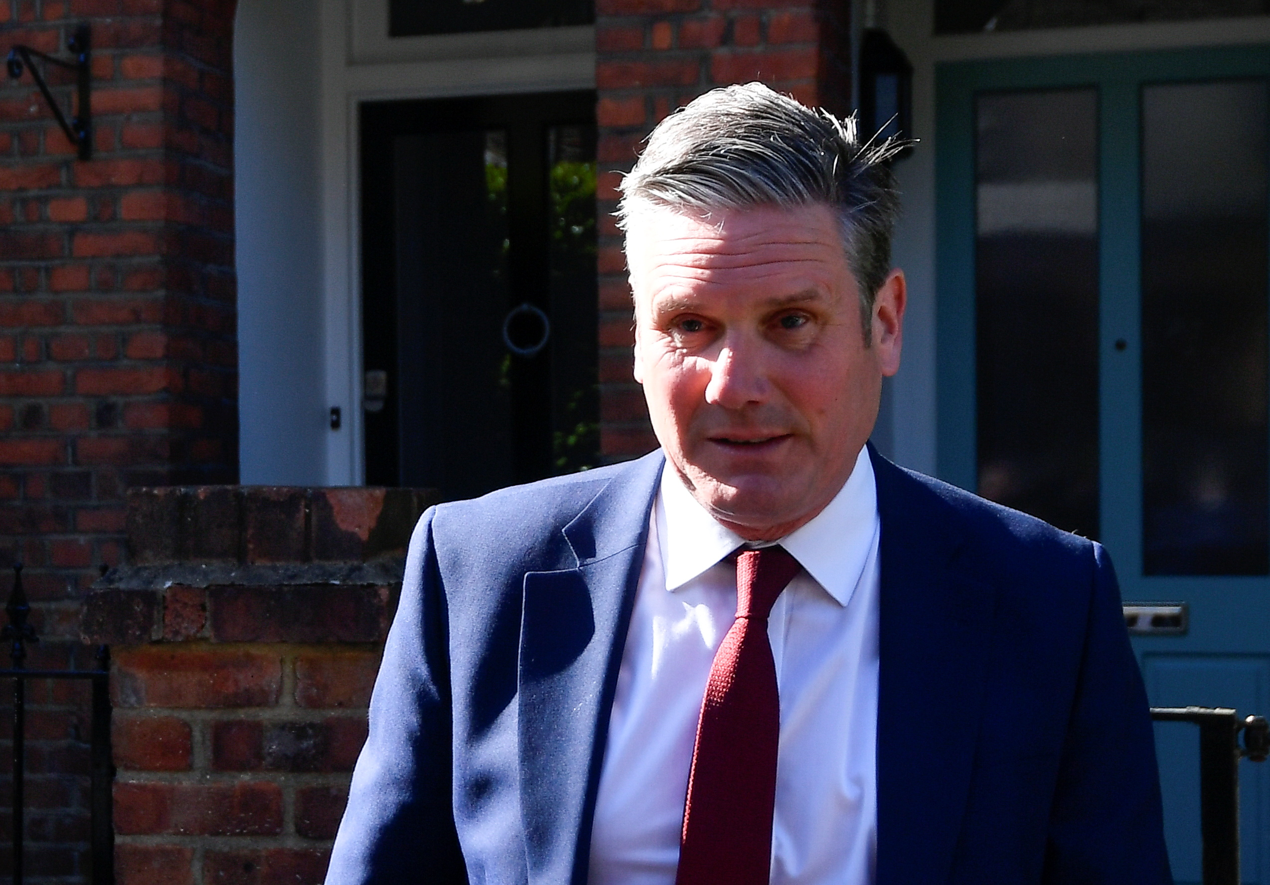 Britain's Labour Party leader Keir Starmer leaves his home after local elections in London, Britain May 7, 2021. REUTERS/Toby Melville