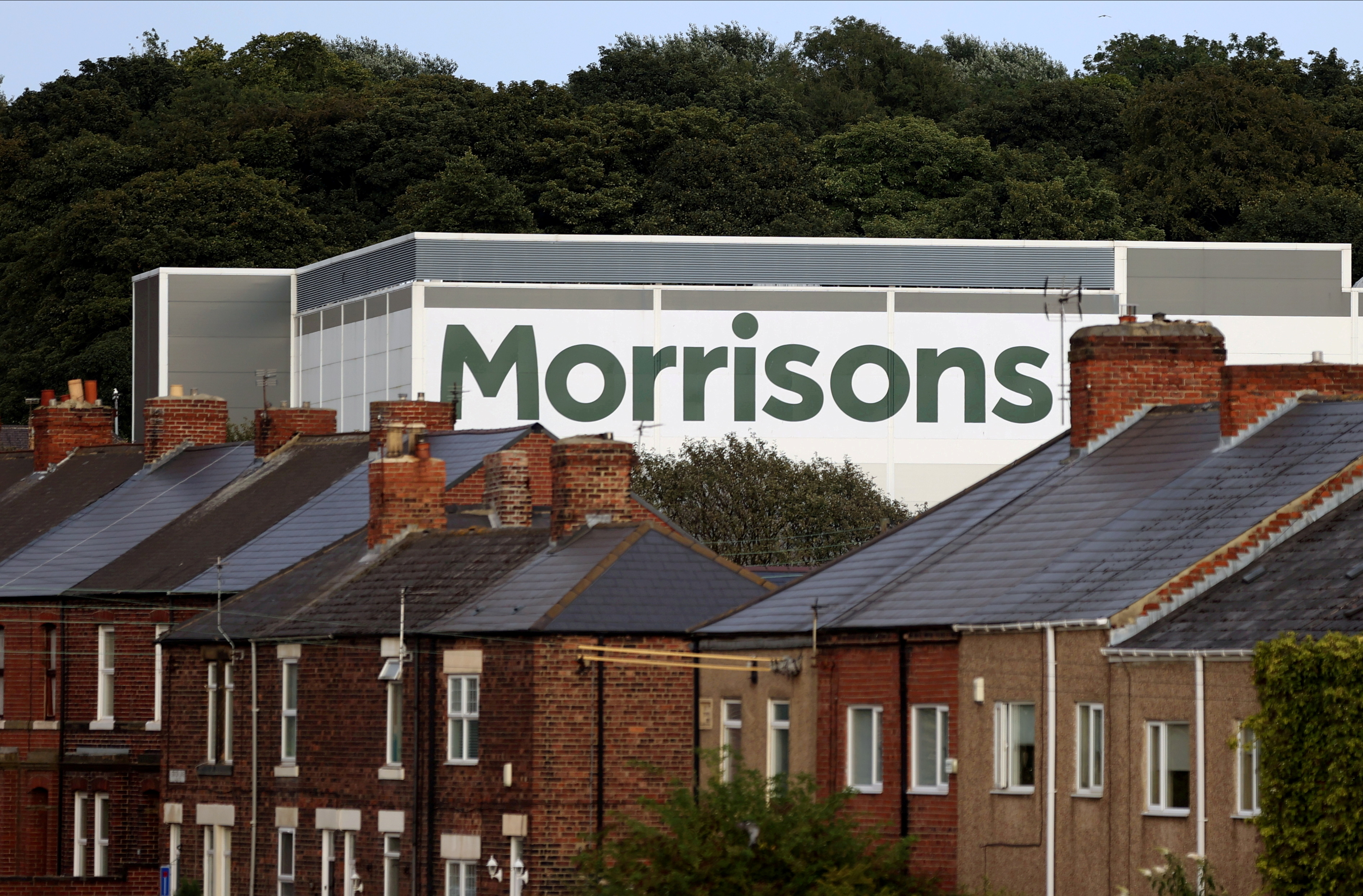 A view of a Morrisons supermarket in Birtley, Britain, August 16 2021. REUTERS/Lee Smith/File Photo