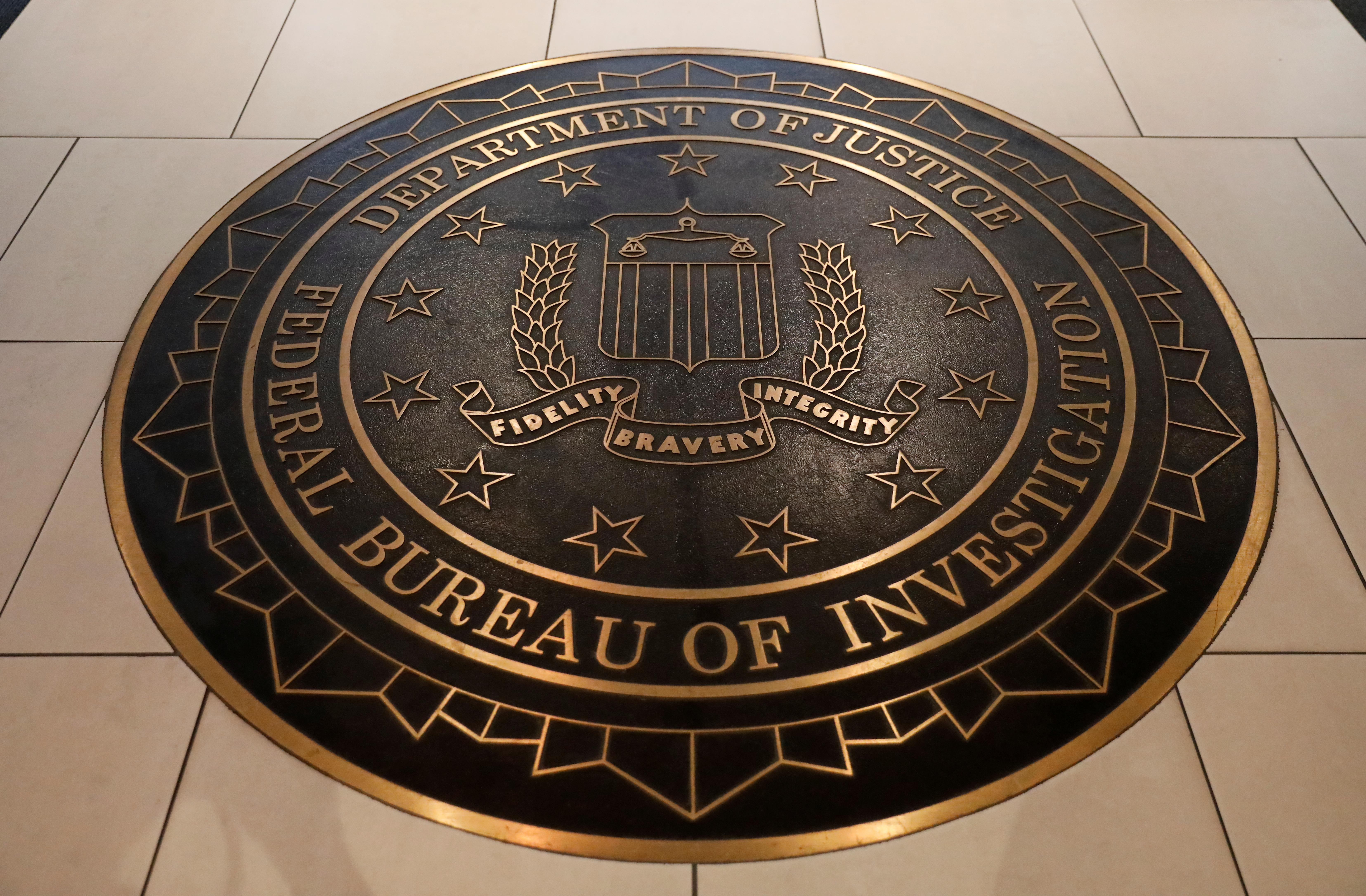 The Federal Bureau of Investigation seal at FBI headquarters in Washington, D.C. REUTERS/Yuri Gripas