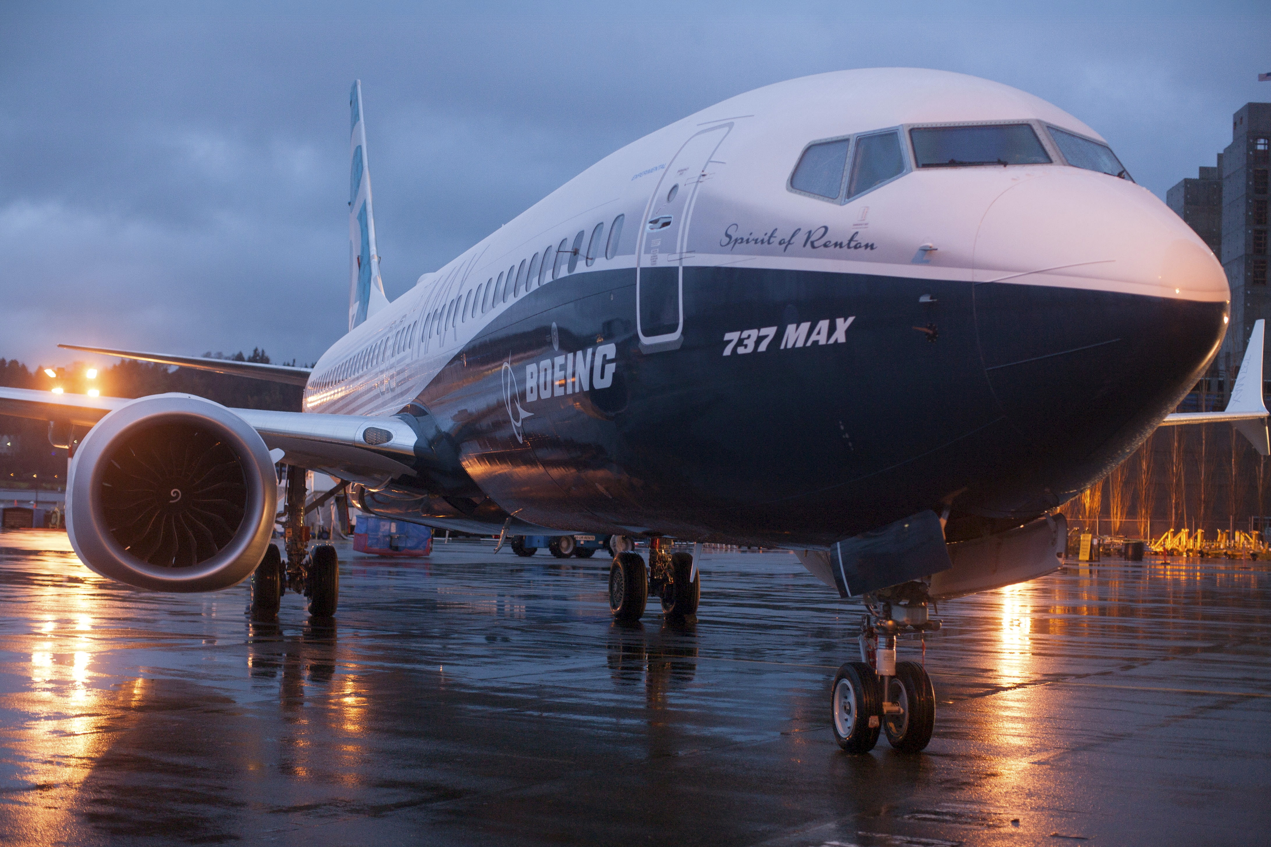 FILE PHOTO: A Boeing 737 MAX 8 sits outside the hangar during a media tour of the Boeing 737 MAX at the Boeing plant in Renton, Washington December 8, 2015. REUTERS/Matt Mills McKnight
