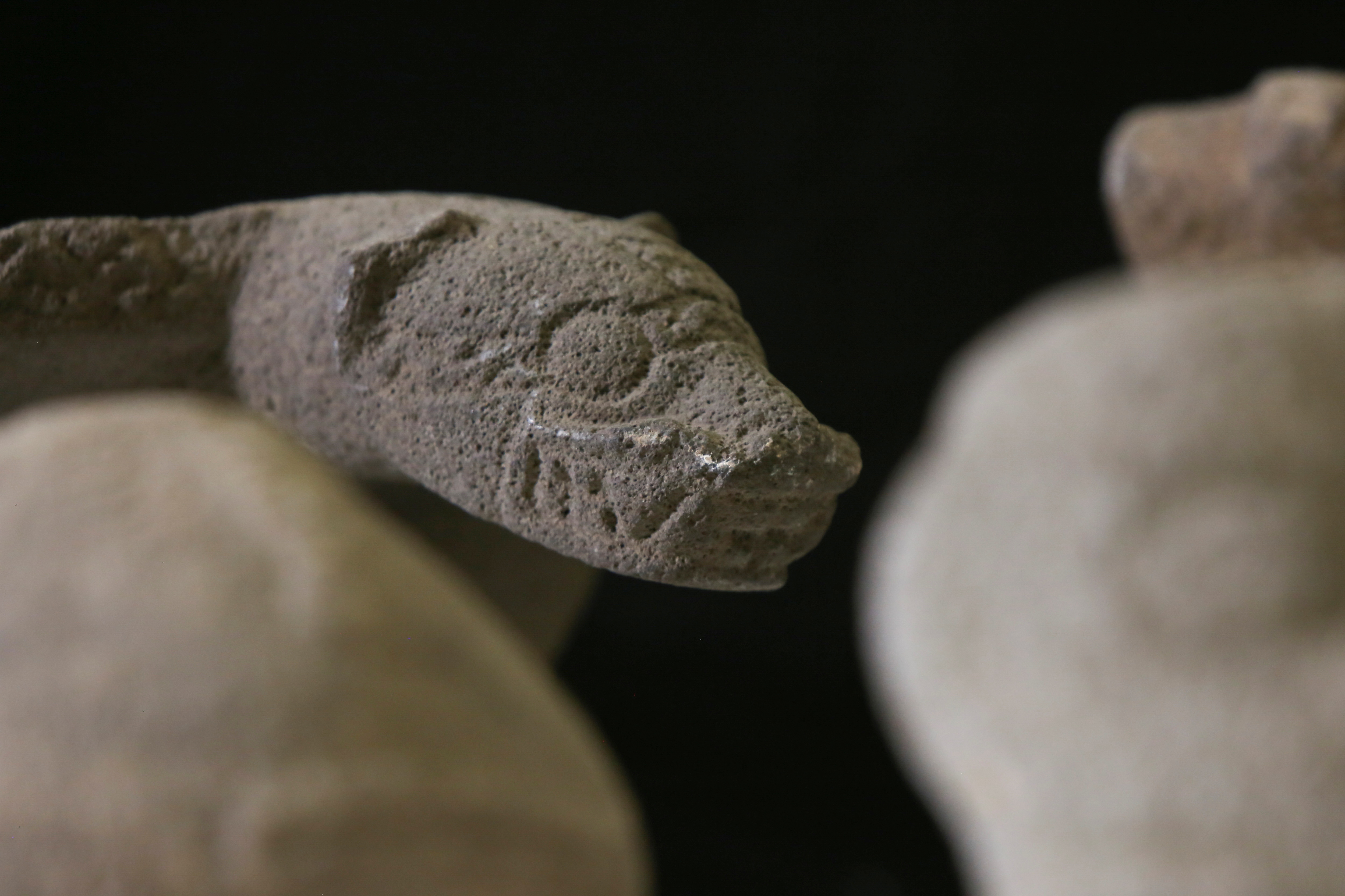 Pre-Columbian artifacts, repatriated from the Brooklyn Museum in New York, U.S., are displayed for its classification by archaeologists at the facilities of the Costa Rica's National Museum, in Pavas, Costa Rica July 2, 2021. Picture taken  July 2, 2021. REUTERS/Mayela Lopez