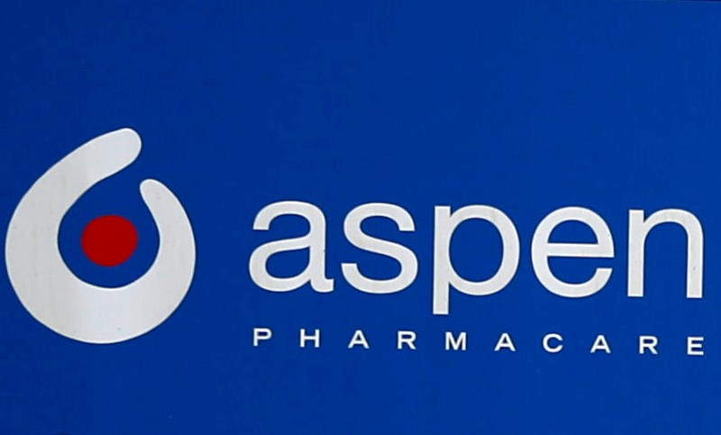 An Aspen Pharmacare logo is seen at outside company offices in Woodmead, Johannesburg, South Africa, September 13, 2018. REUTERS/Siphiwe Sibeko/File Photo