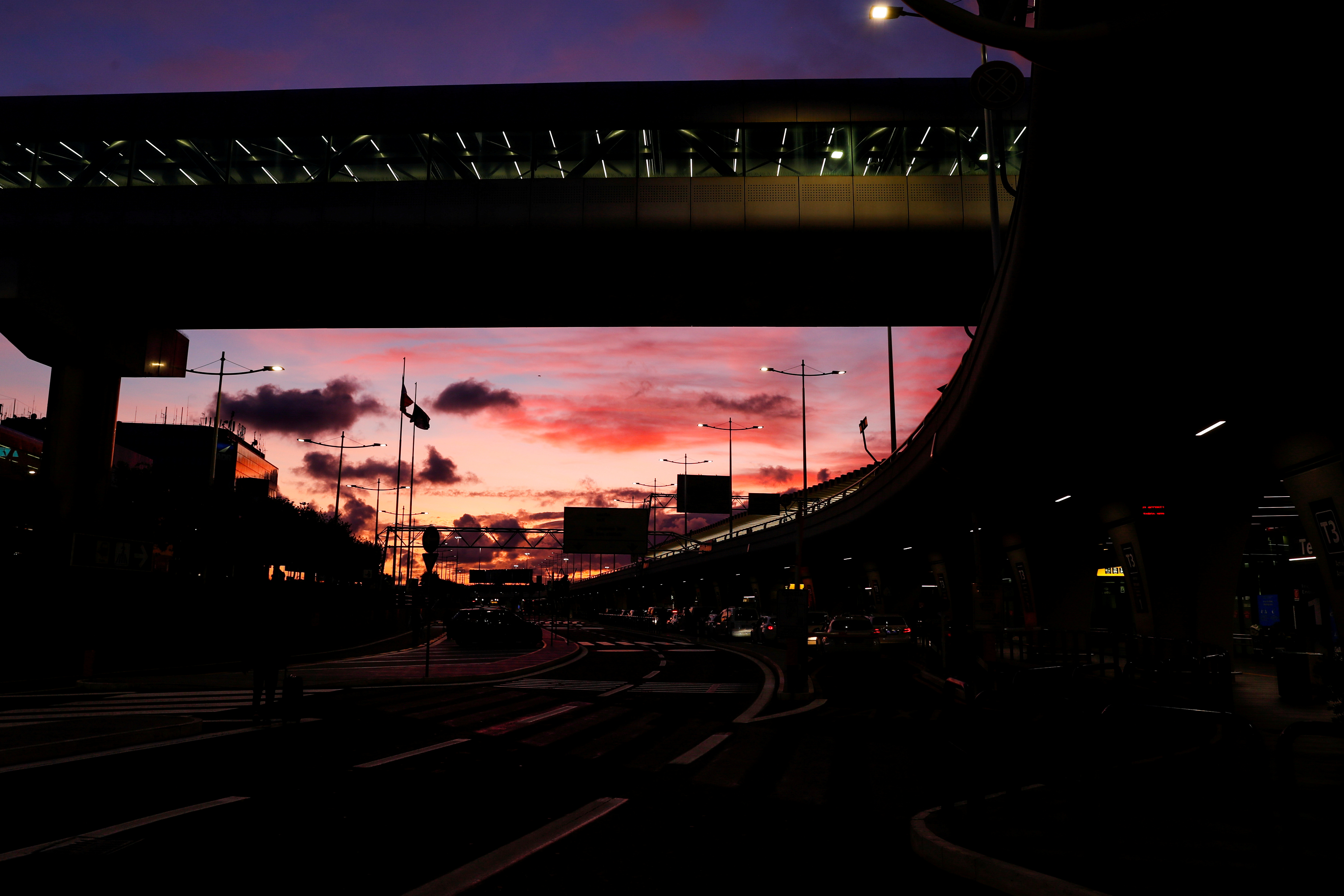 Fiumicino airport is seen at sunset in Rome, Italy, December 24, 2020. REUTERS/Remo Casilli/File Photo