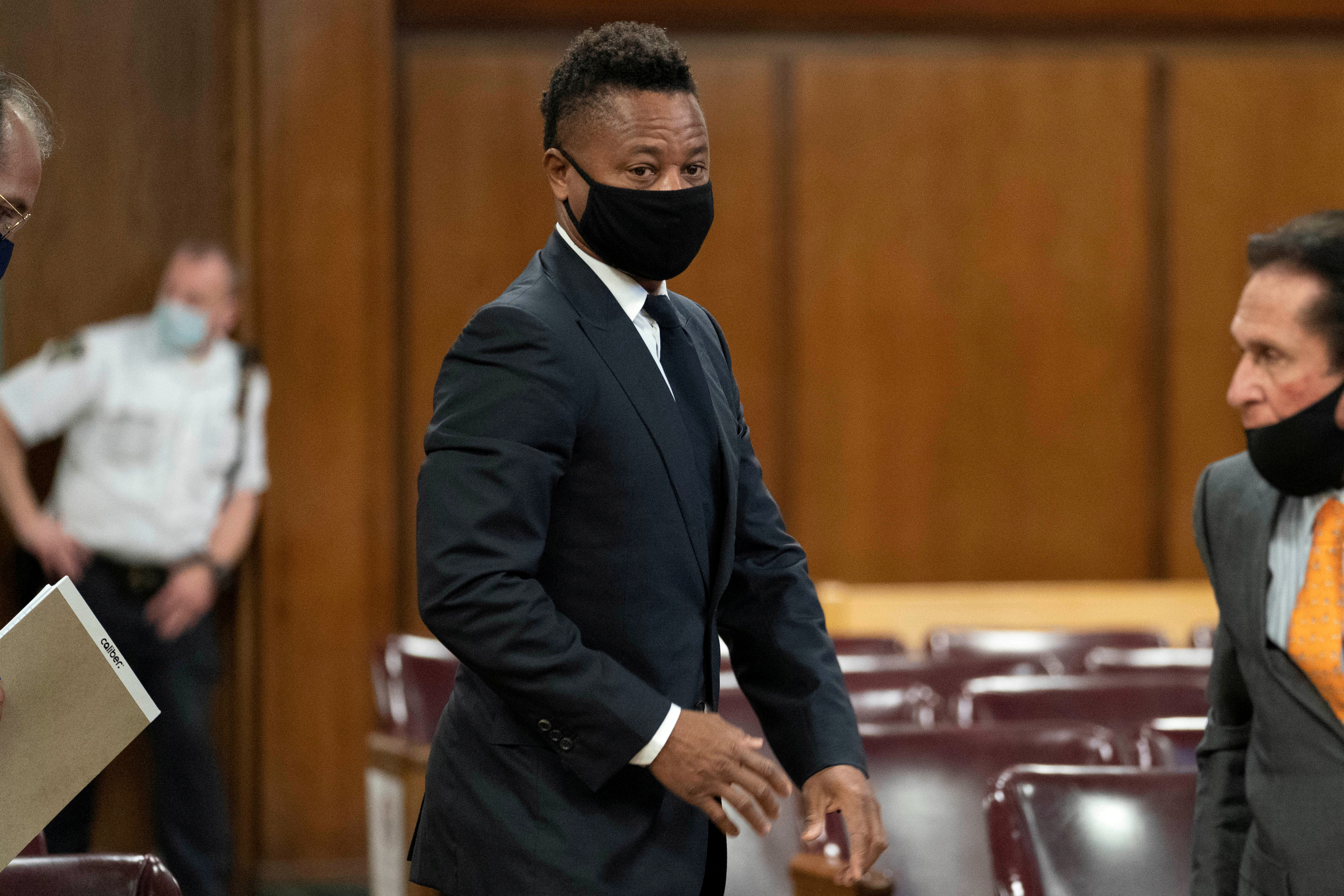 Actor Cuba Gooding Jr. appears in New York Criminal Court in the Manhattan borough of New York City, New York, U.S., August 13, 2020. Steven Hirsch/Pool via REUTERS