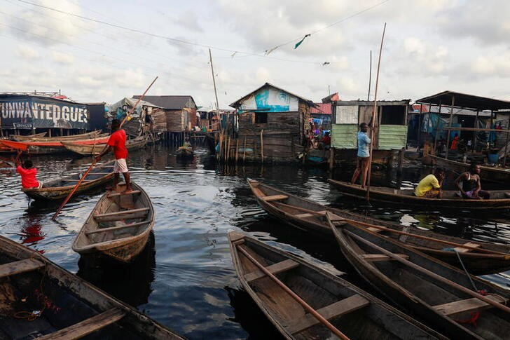 A view of the Makoko community is pictured in Lagos, Nigeria May 5, 2021.   REUTERS/Temilade Adelaja