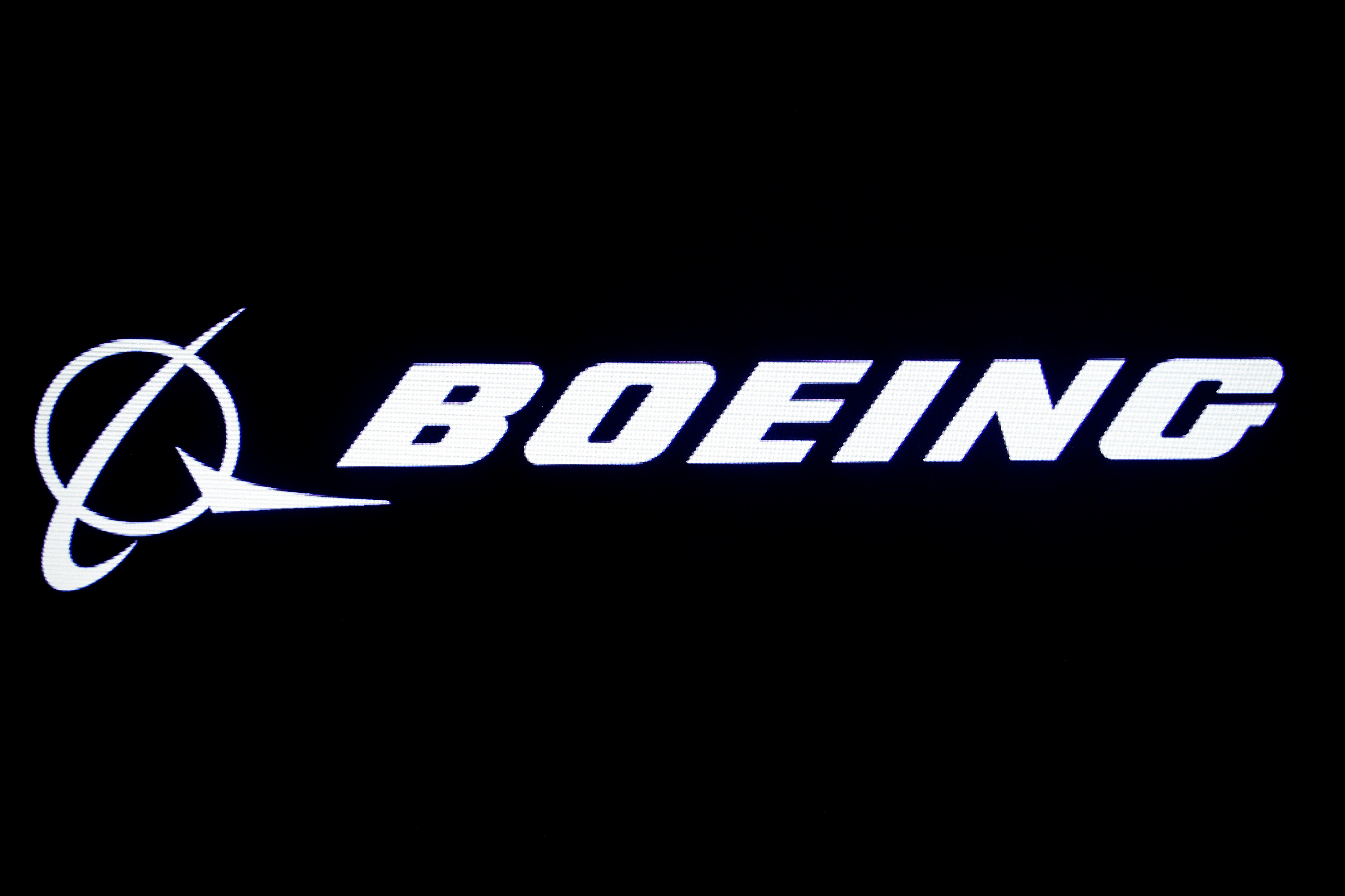 The Boeing logo is displayed on a screen, at the New York Stock Exchange (NYSE) in New York, U.S., August 7, 2019. REUTERS/Brendan McDermid