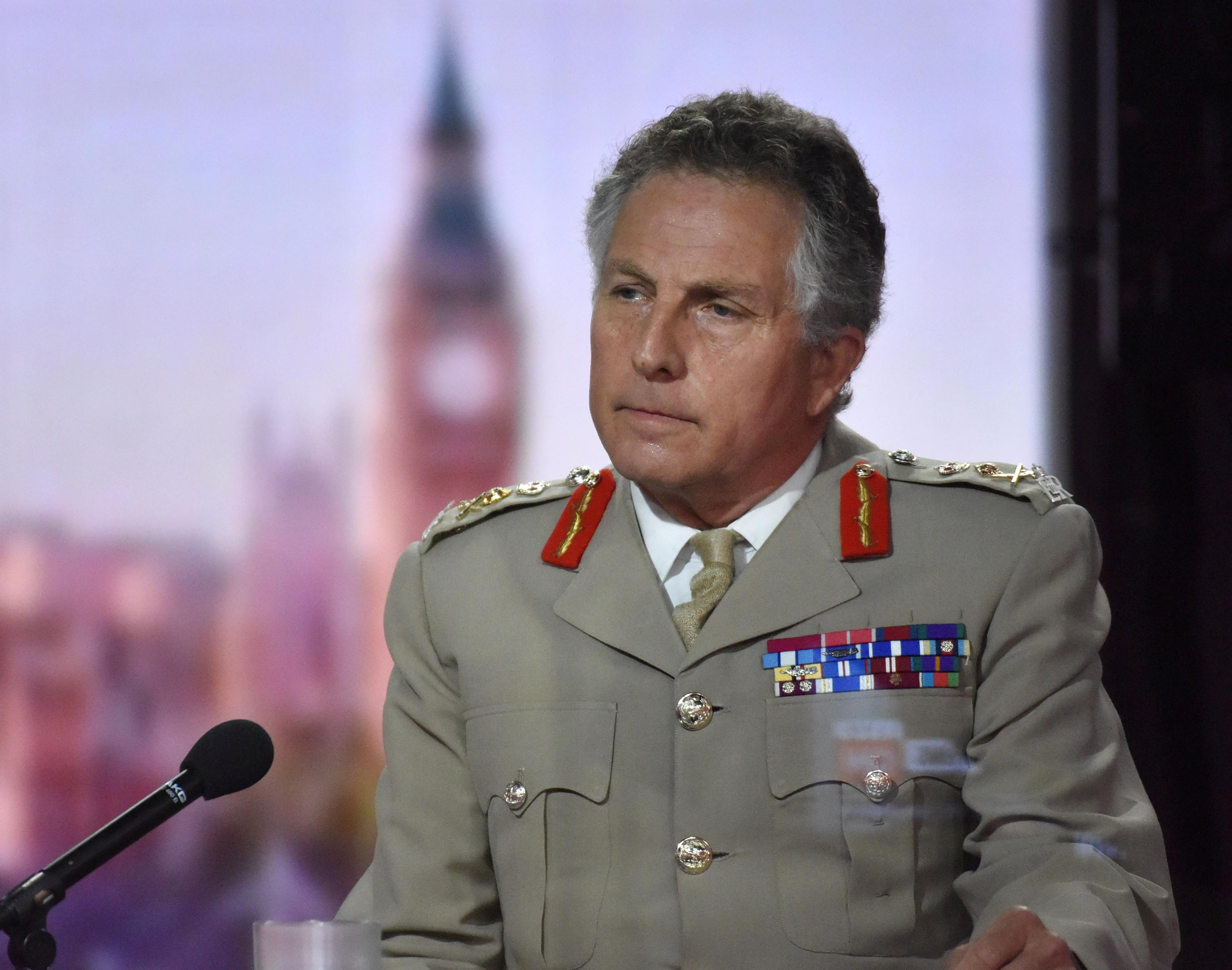 British Army General Sir Nick Carter appears on BBC TV's The Andrew Marr Show in London, Britain, July 11, 2021. Jeff Overs/BBC/Handout via REUTERS/Files