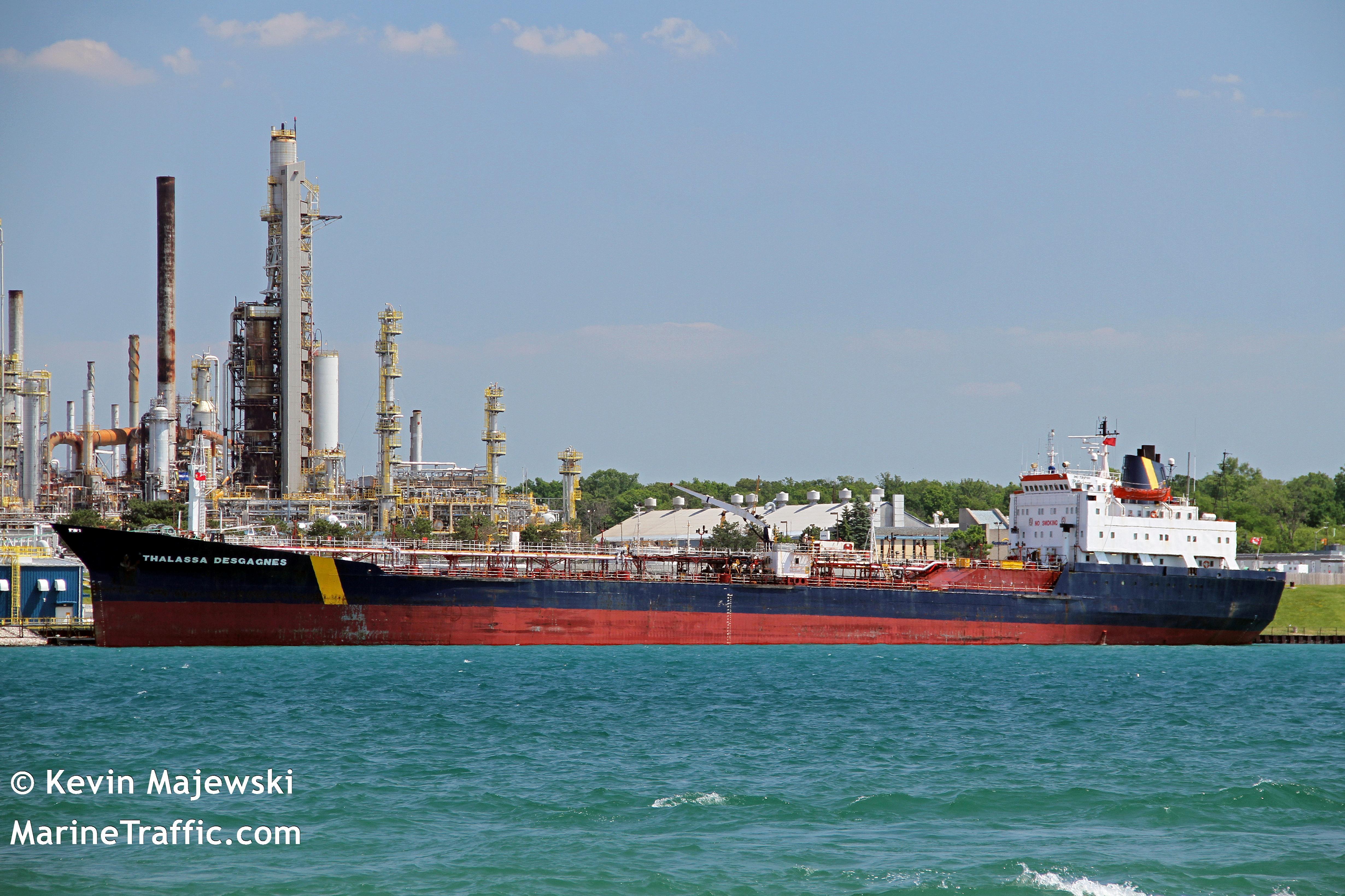 A handout image shows the Thalassa Desgagnes tanker, now called the Asphalt Princess, in Sarnia, Ontario, Canada June 19, 2016. Kevin D.Majewski/Handout via REUTERS