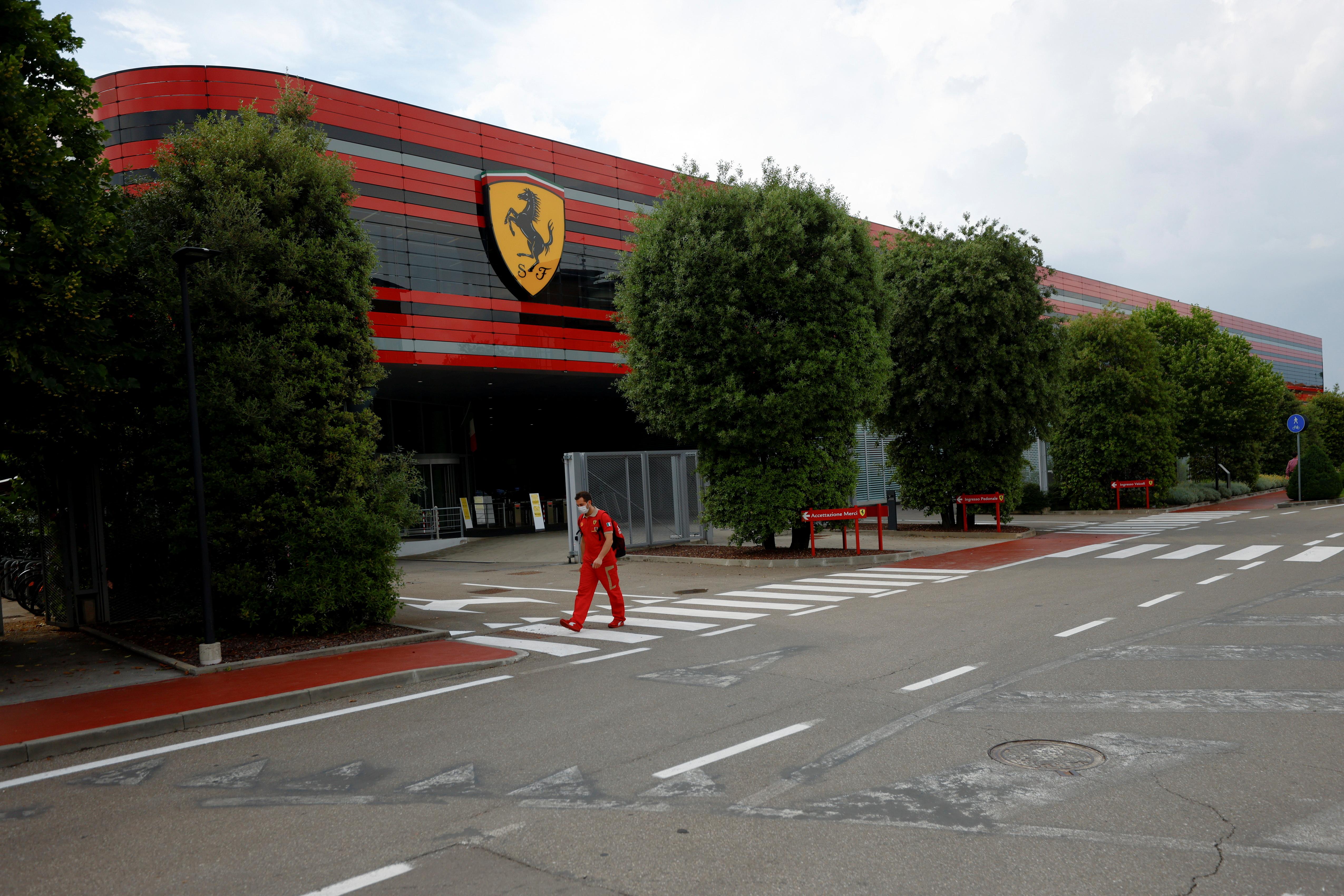 General view of Ferrari's headquarters in Maranello, Italy, June 8, 2021. Picture taken June 8, 2021. REUTERS/Guglielmo Mangiapane