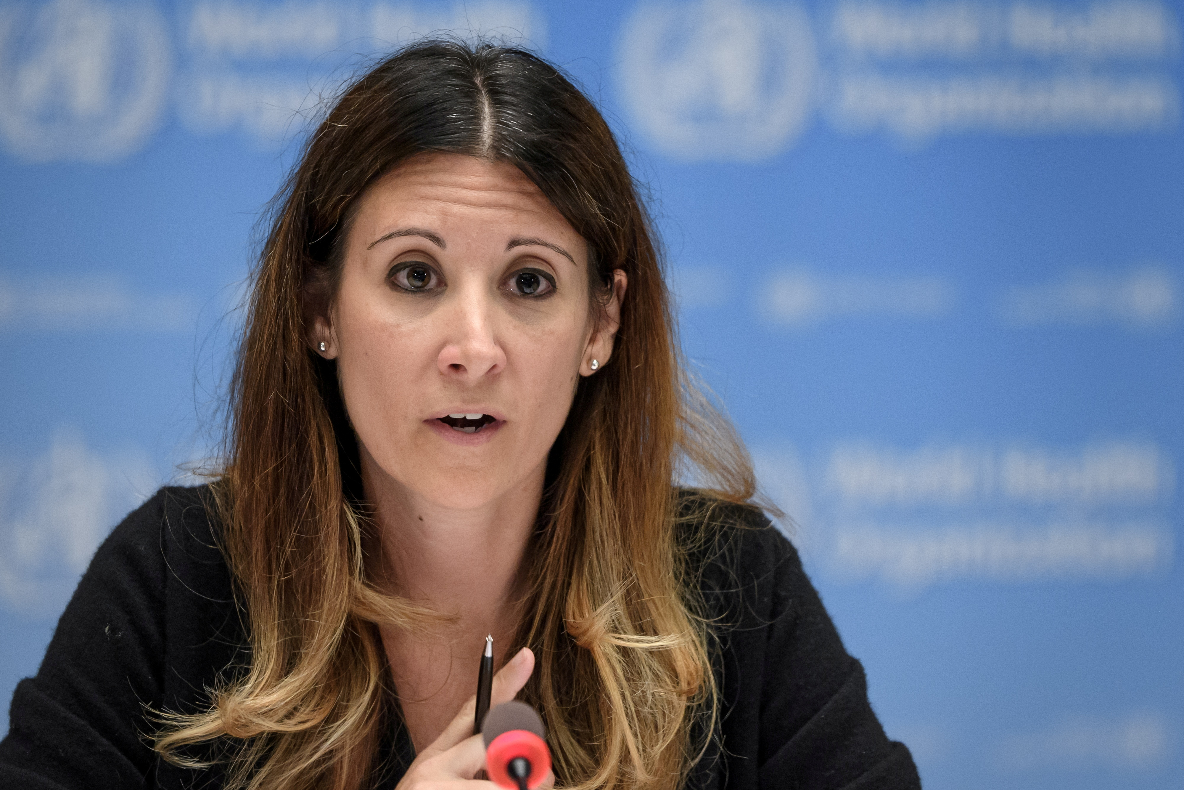WHO Technical lead head COVID-19 Maria Van Kerkhove attends a news conference organized by Geneva Association of United Nations Correspondents (ACANU) amid the COVID-19 outbreak, caused by the novel coronavirus, at the WHO headquarters in Geneva, Switzerland July 3, 2020. Fabrice Coffrini/Pool via REUTERS/File Photo