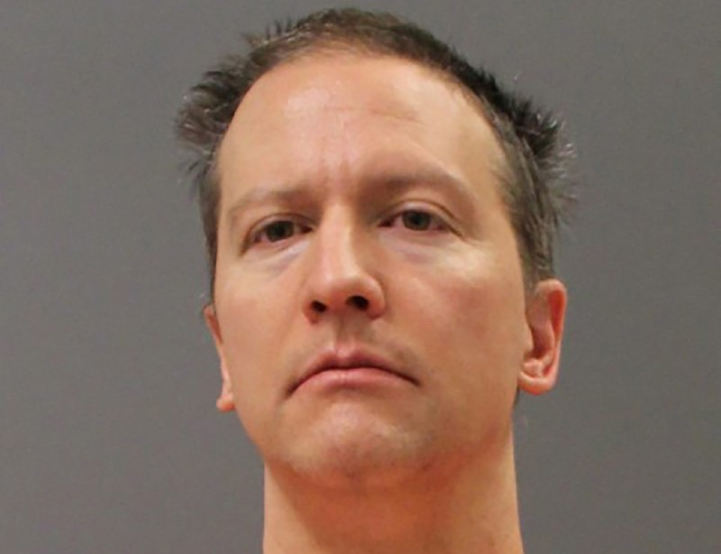 Former Minneapolis Police Officer Derek Chauvin is shown in this police booking photo after a jury found him guilty on all counts in his trial for second-degree murder, third-degree murder and second-degree manslaughter in the death of George Floyd in Minneapolis, Minnesota, U.S. April 20, 2021. Picture taken April 20, 2021 and released on April 21, 2021.  Minnesota Department of Corrections/Handout via REUTERS