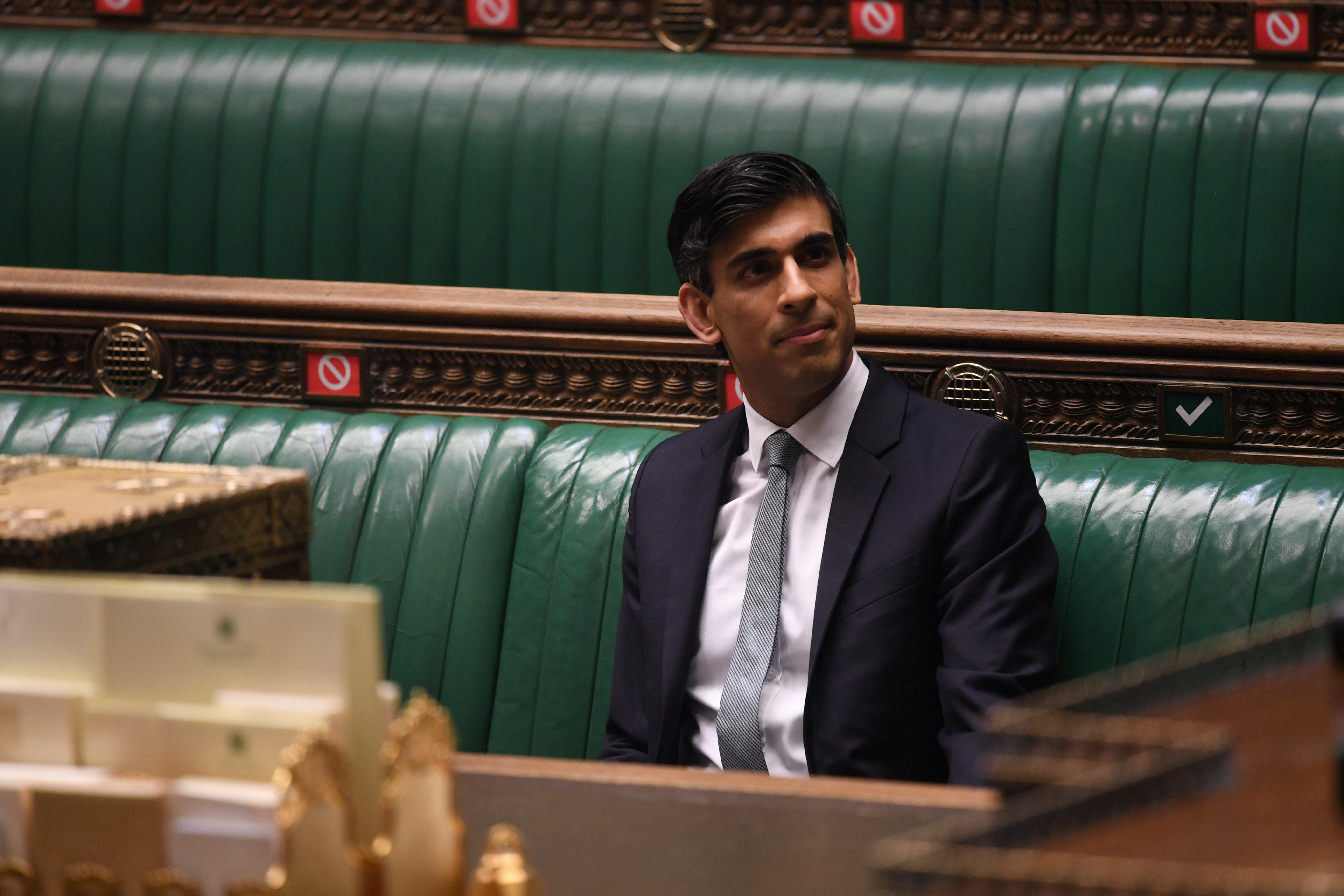 British Chancellor of the Exchequer Rishi Sunak attends a session at the House of Commons in London, Britain March 3, 2021. UK Parliament/Jessica Taylor/Handout via REUTERS