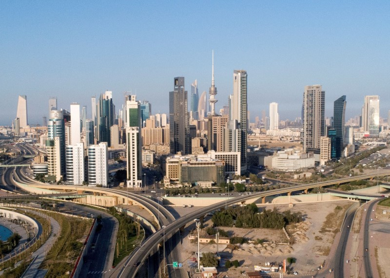 An aerial view shows little traffic on the roads of Kuwait City after the country entered virtual lockdown, following the outbreak of coronavirus, in Kuwait City, Kuwait March 16, 2020. REUTERS/Stephanie McGehee/File Photo