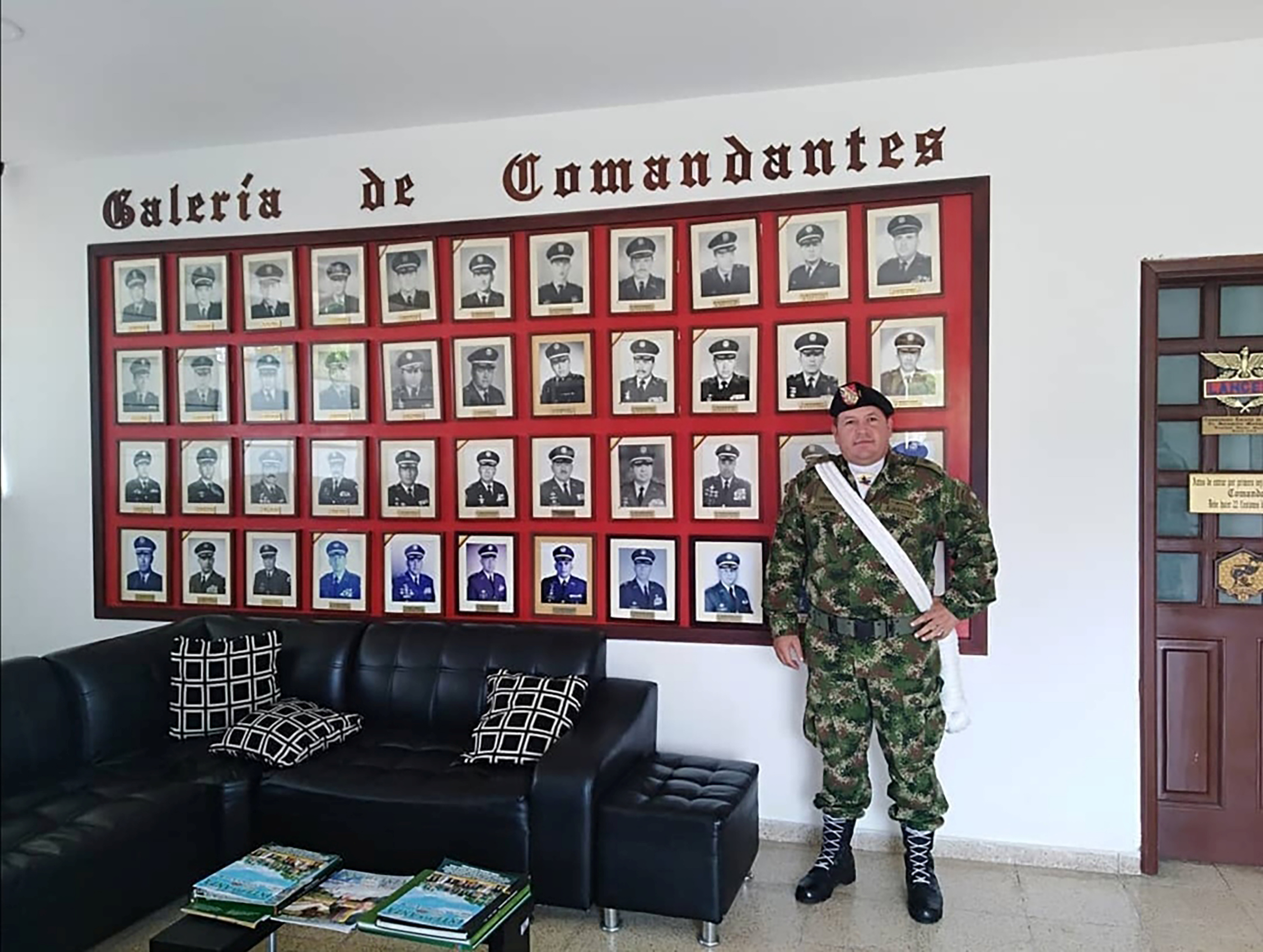 Duberney Capador Giraldo, a former Colombian soldier killed during the operation to capture those allegedly implicated in the assassination of Haitian President Jovenel Moise, is pictured during his military career, in Tolemaida, Colombia on this undated handout picture, obtained by Reuters July 10, 2021. Jenny Capador Giraldo/Handout via REUTERS ATTENTION EDITORS - THIS IMAGE HAS BEEN SUPPLIED BY A THIRD PARTY.
