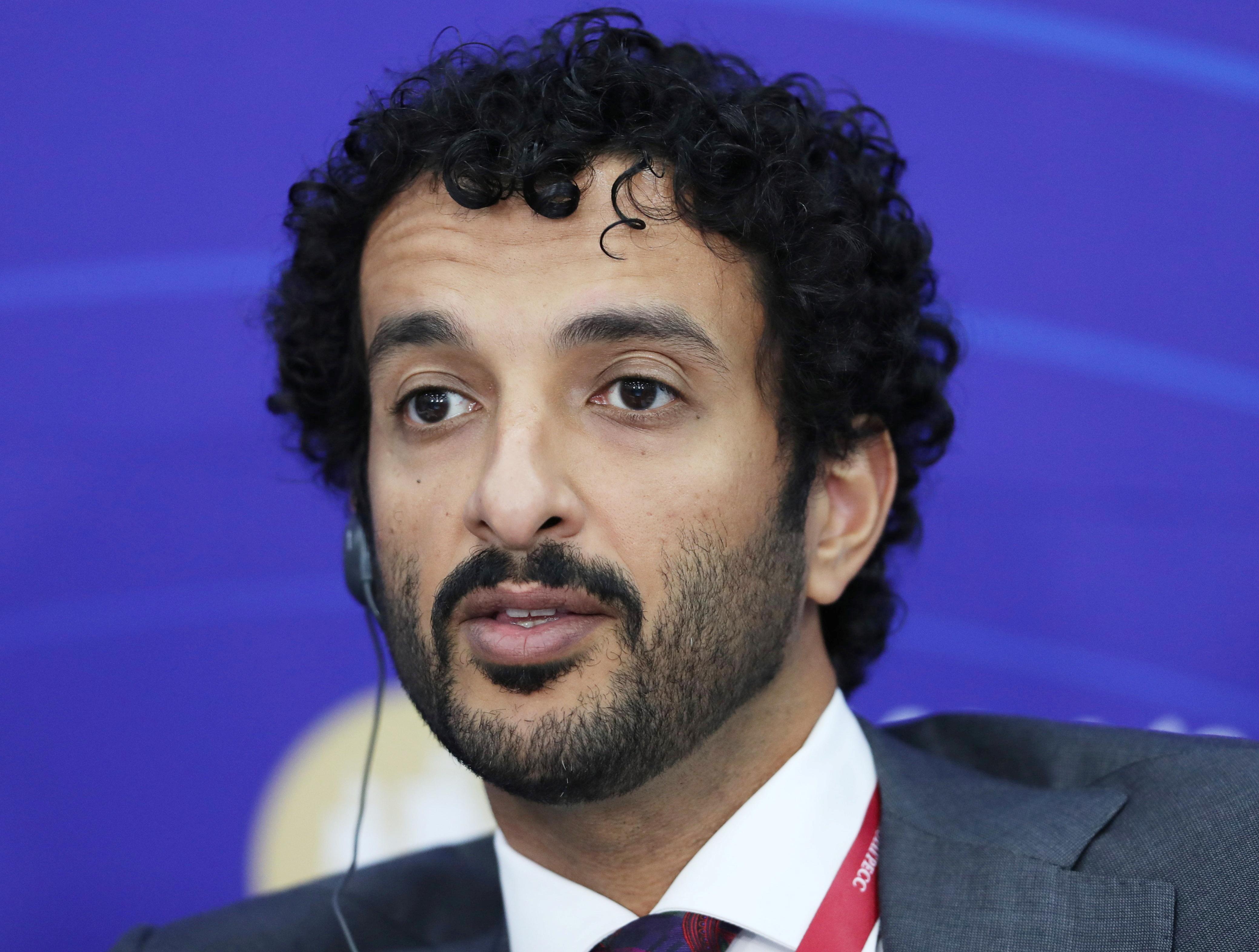 Abdulla Bin Touq Al Marri, Minister of Economy of the United Arab Emirates, attends a session of the St. Petersburg International Economic Forum (SPIEF) in Saint Petersburg, Russia, June 3, 2021. REUTERS/Evgenia Novozhenina/File photo
