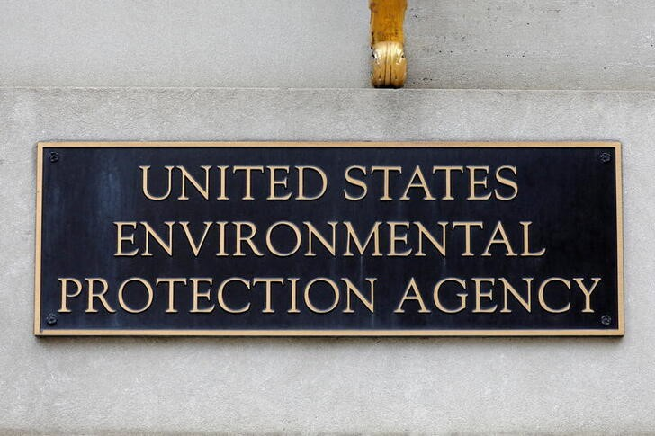 Signage is seen at the headquarters of the United States Environmental Protection Agency (EPA) in Washington, D.C., U.S., May 10, 2021. REUTERS/Andrew Kelly