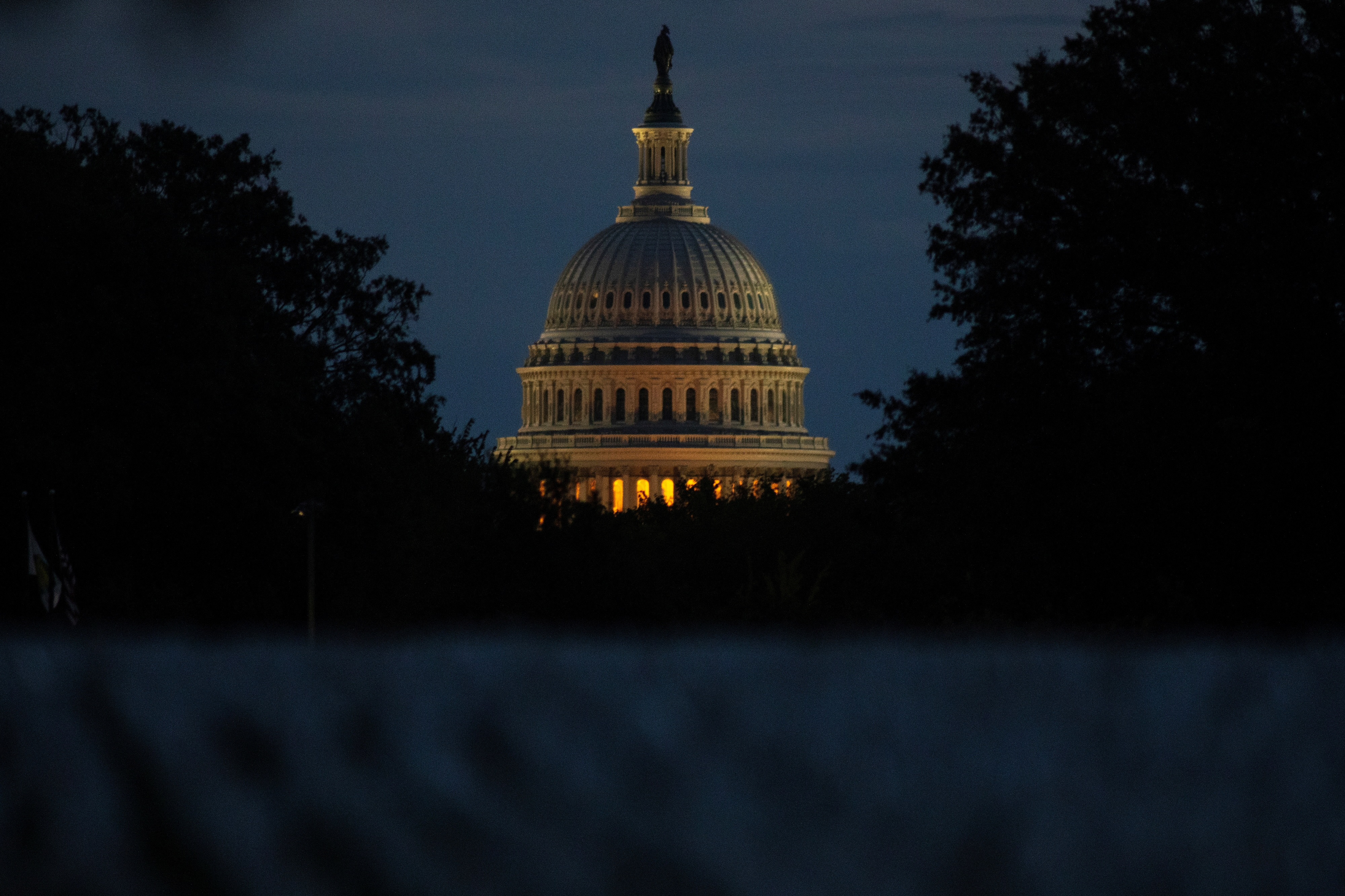 The U.S. Capitol building is pictured at dawn along the National Mall in Washington, U.S., September 29, 2021.  REUTERS/Tom Brenner