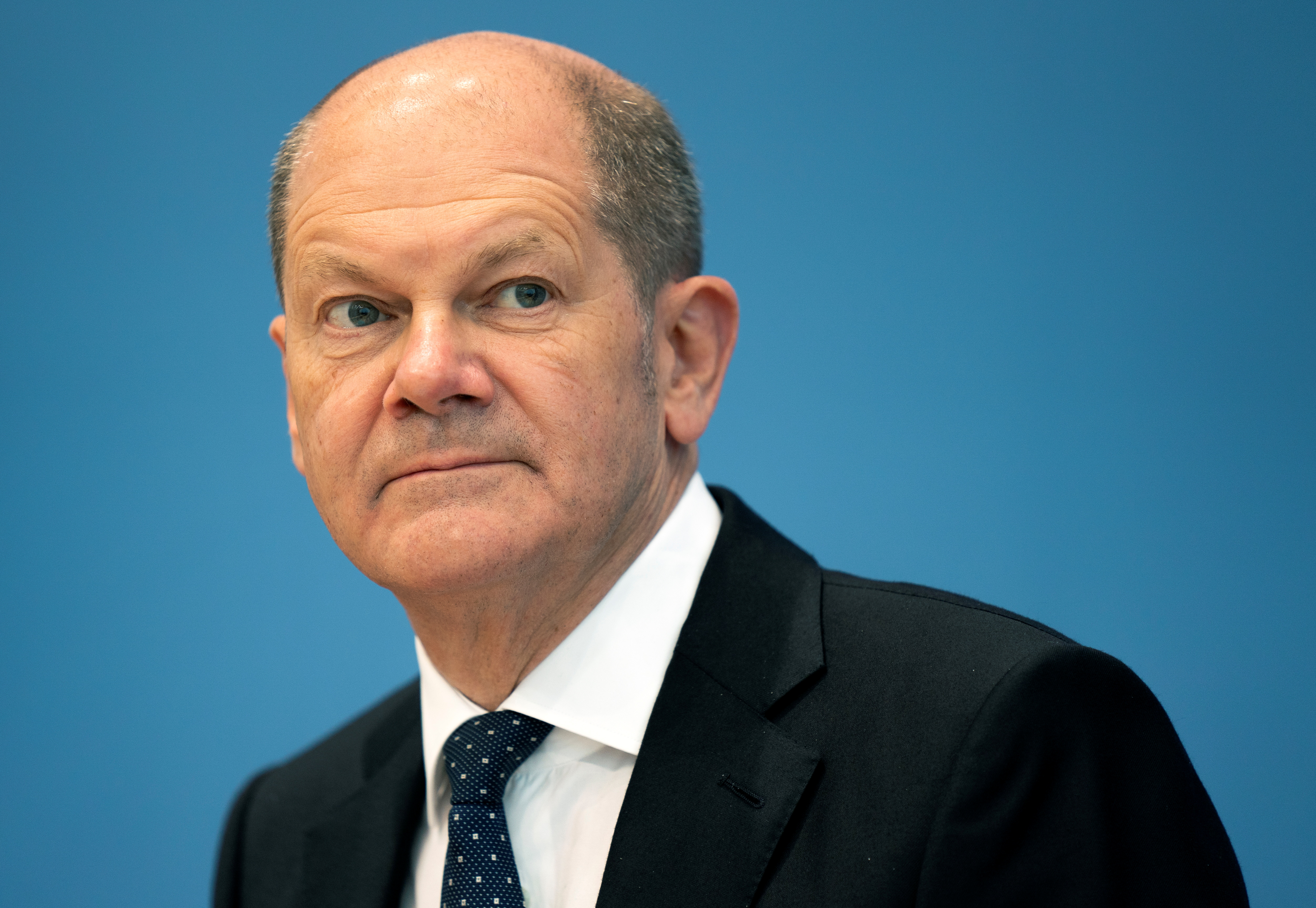 German Finance Minister Olaf Scholz attends a news conference on the tax estimate in Berlin, Germany, May 12, 2021. Michael Sohn/Pool via REUTERS