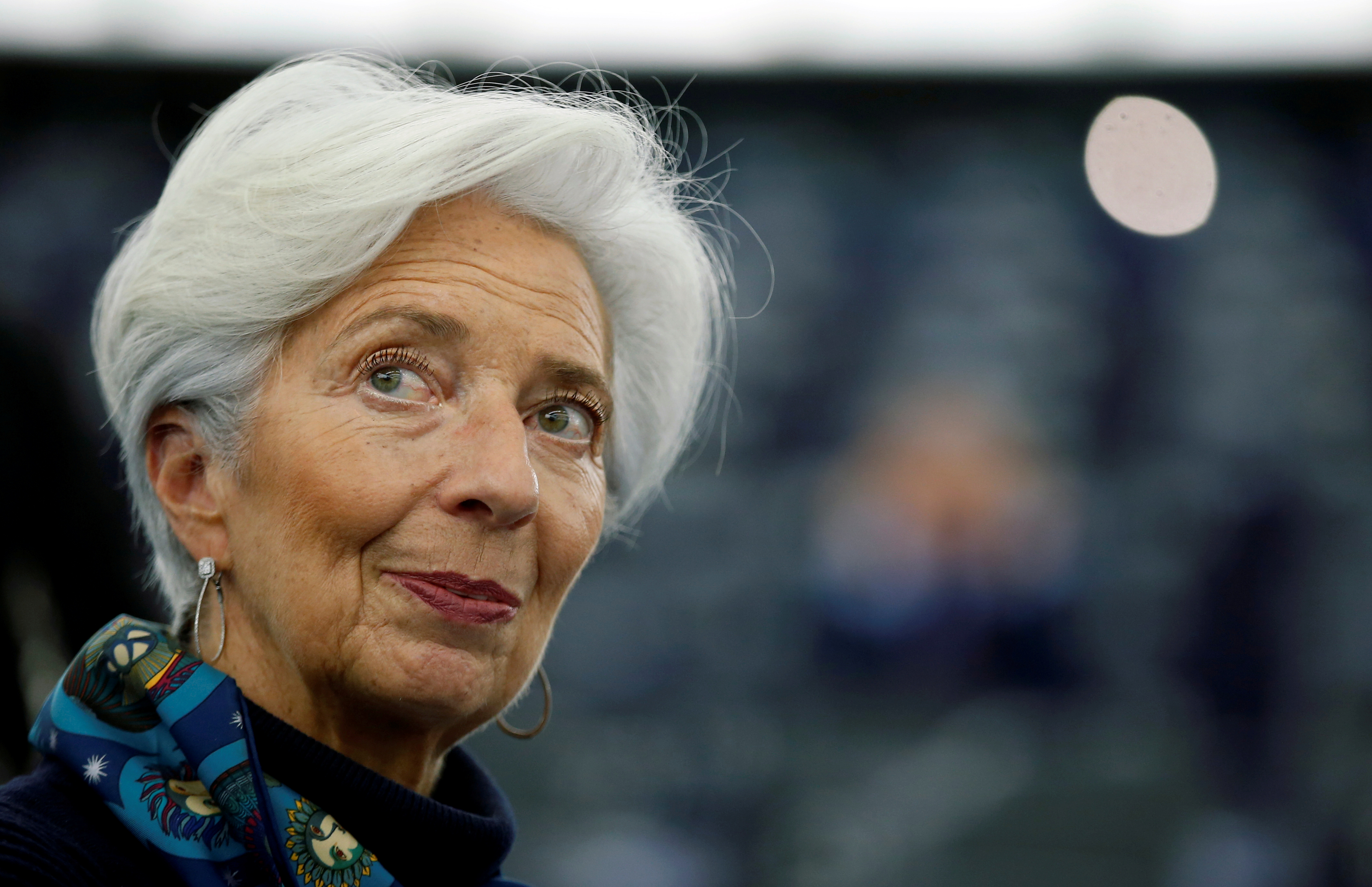 European Central Bank President Christine Lagarde looks on during a debate on the 2018 annual report of the ECB, at the European Parliament in Strasbourg, France, February 11, 2020. REUTERS/Vincent Kessler/File Photo