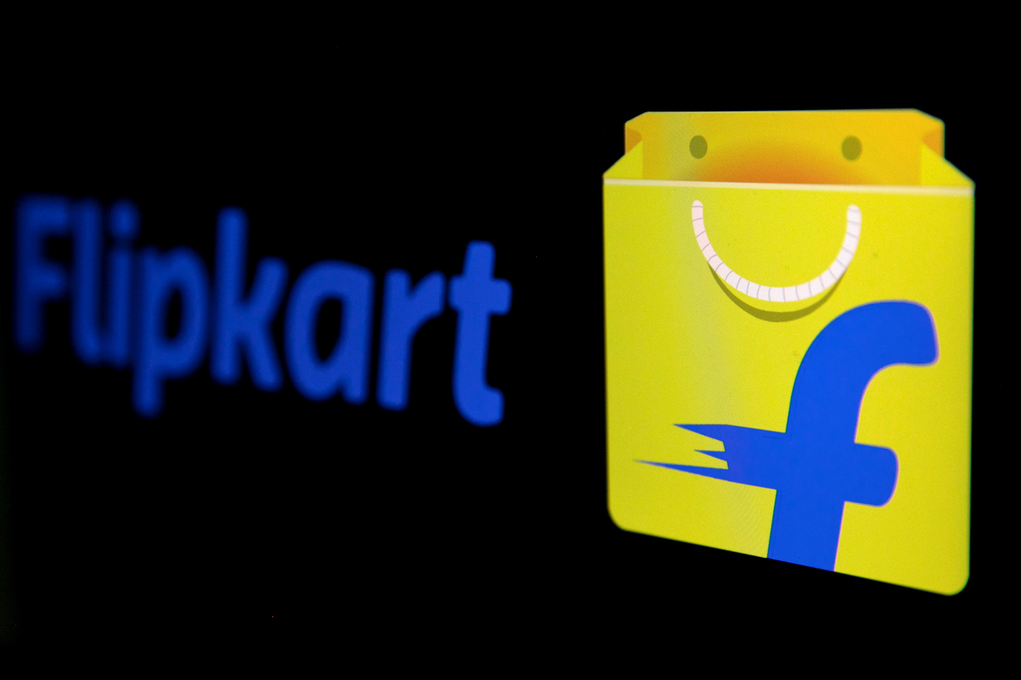 The logo of India's e-commerce firm Flipkart is seen in this illustration picture taken January 29, 2019. REUTERS/Danish Siddiqui/Illustration//File Photo