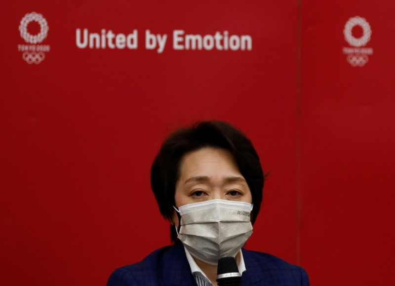 Tokyo 2020 Olympics Organising Committee President Seiko Hashimoto speaks at a news conference after IOC Executive Board meeting in Tokyo, Japan, June 9, 2021.   REUTERS/Kim Kyung-Hoon/Pool