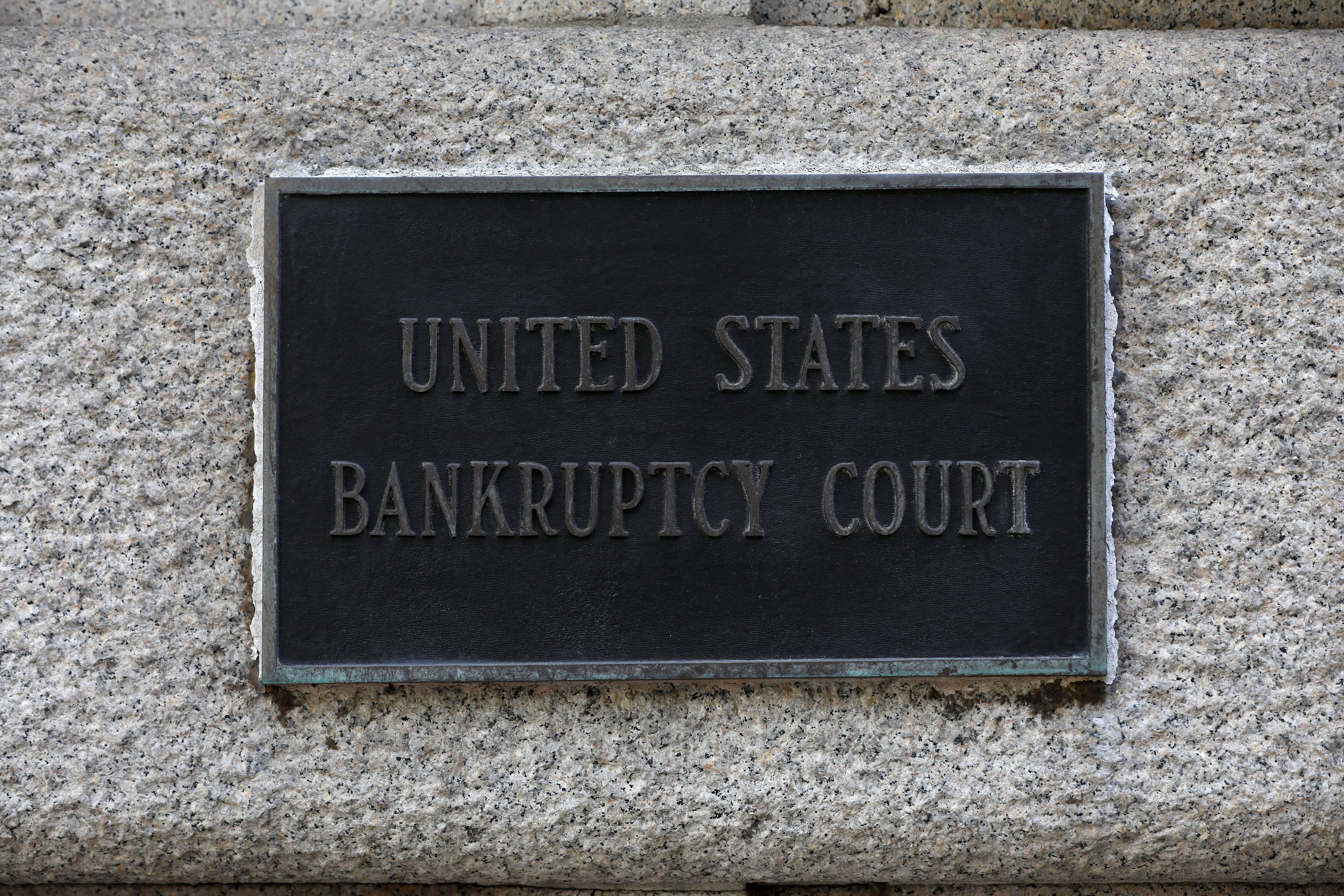 Signage is seen at the United States Bankruptcy Court for the Southern District of New York in Manhattan, New York City, U.S., August 24, 2020. REUTERS/Andrew Kelly