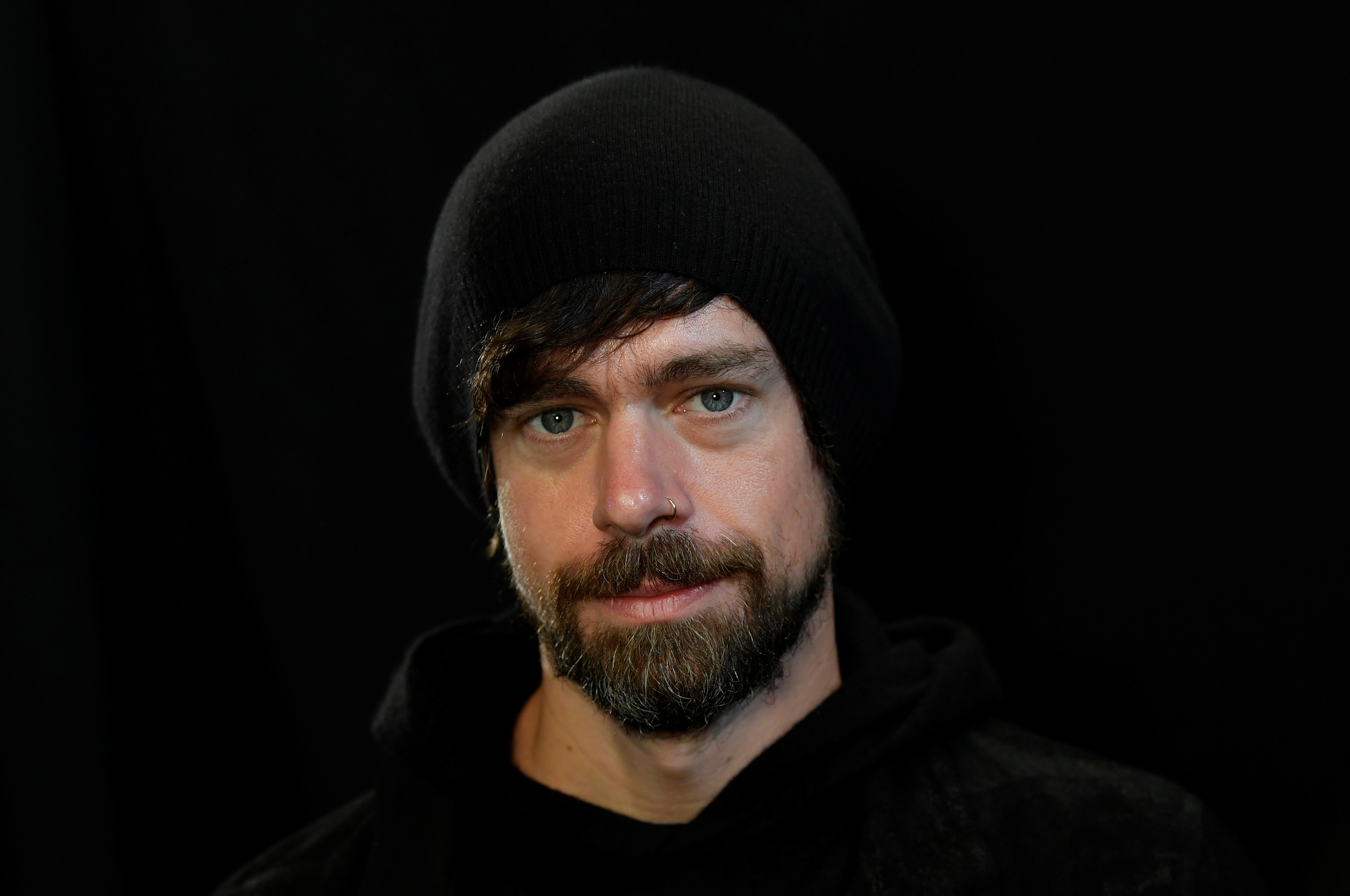 Jack Dorsey, co-founder of Twitter and fin-tech firm Square, sits for a portrait during an interview with Reuters in London, Britain, June 11, 2019. REUTERS/Toby Melville/Files