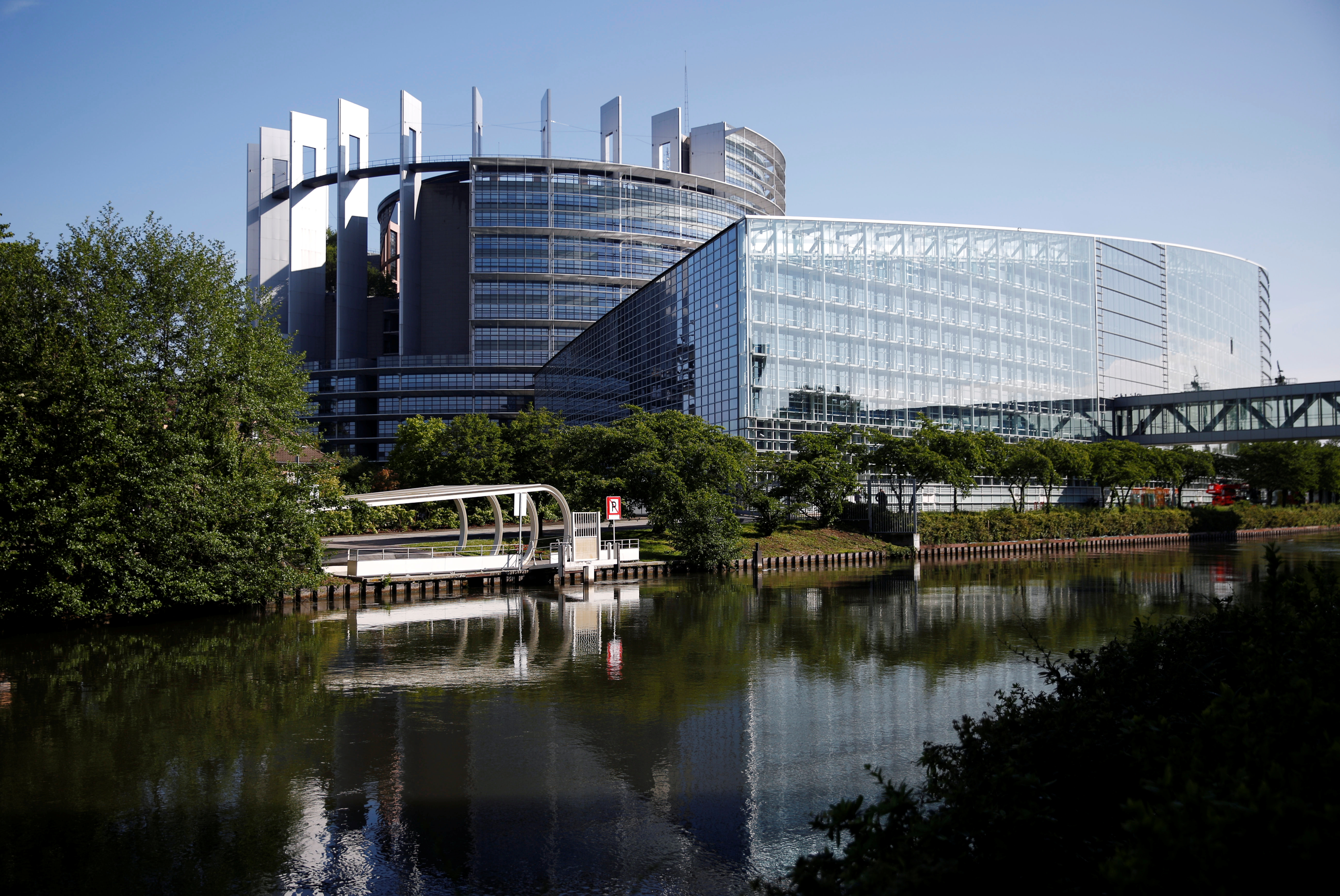 The building of the European Parliament, designed by Architecture-Studio architects, is seen in Strasbourg, France, May 22, 2019. REUTERS/Vincent Kessler