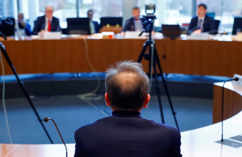 Wirecard's former boss Markus Braun testifies before a German parliamentary committee in Berlin, Germany, November 19, 2020. REUTERS/Fabrizio Bensch/Pool/File Photo