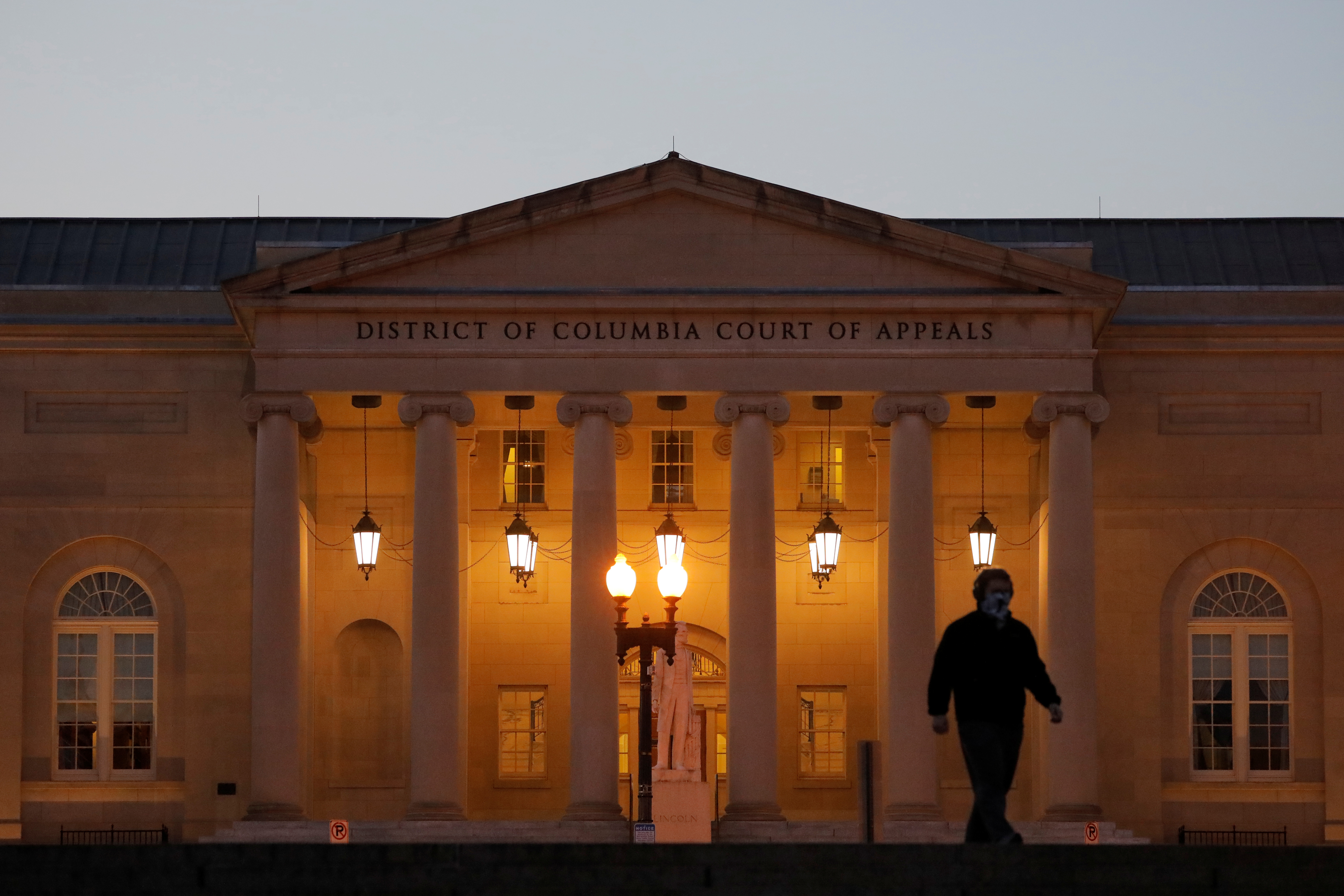 A person walks in front of the District of Columbia Court of Appeals in Washington, D.C. REUTERS/Andrew Kelly