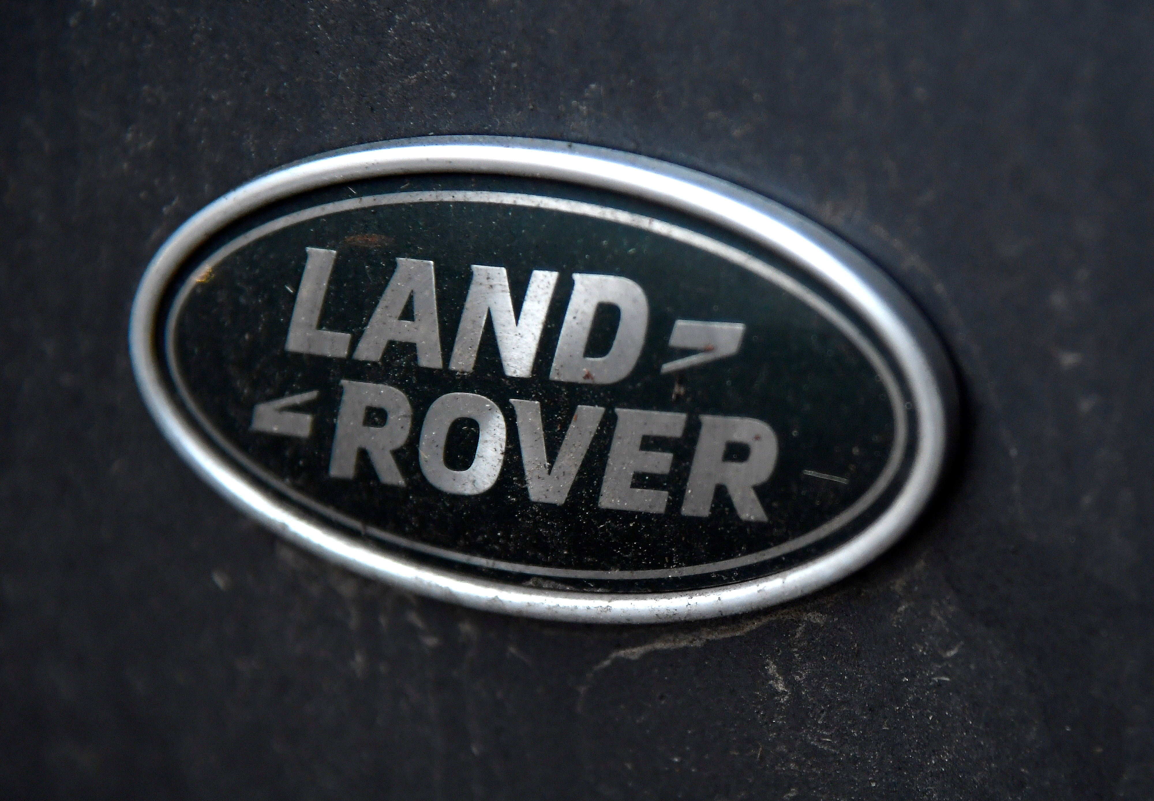 A Land Rover badge is seen on a four wheel drive vehicle in central London, Britain, January 10, 2019. REUTERS/Toby Melville