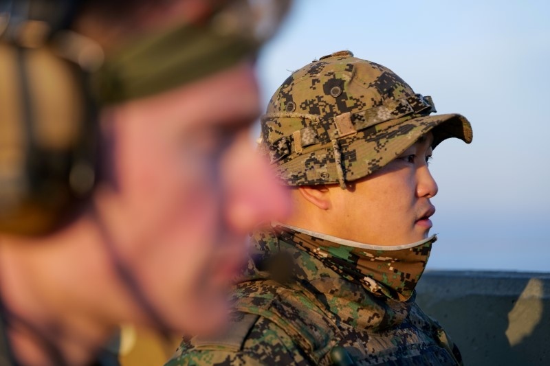 Members of South Korea and U.S. Special forces take part in a joint military exercise conducted by South Korean and U.S. special forces troops at Gunsan Air Force base in Gunsan, South Korea, November 14, 2019.  Photo taken November 14, 2019.  Capt. David J. Murphy/U.S. Air Force/DVIDS/Handout via REUTERS