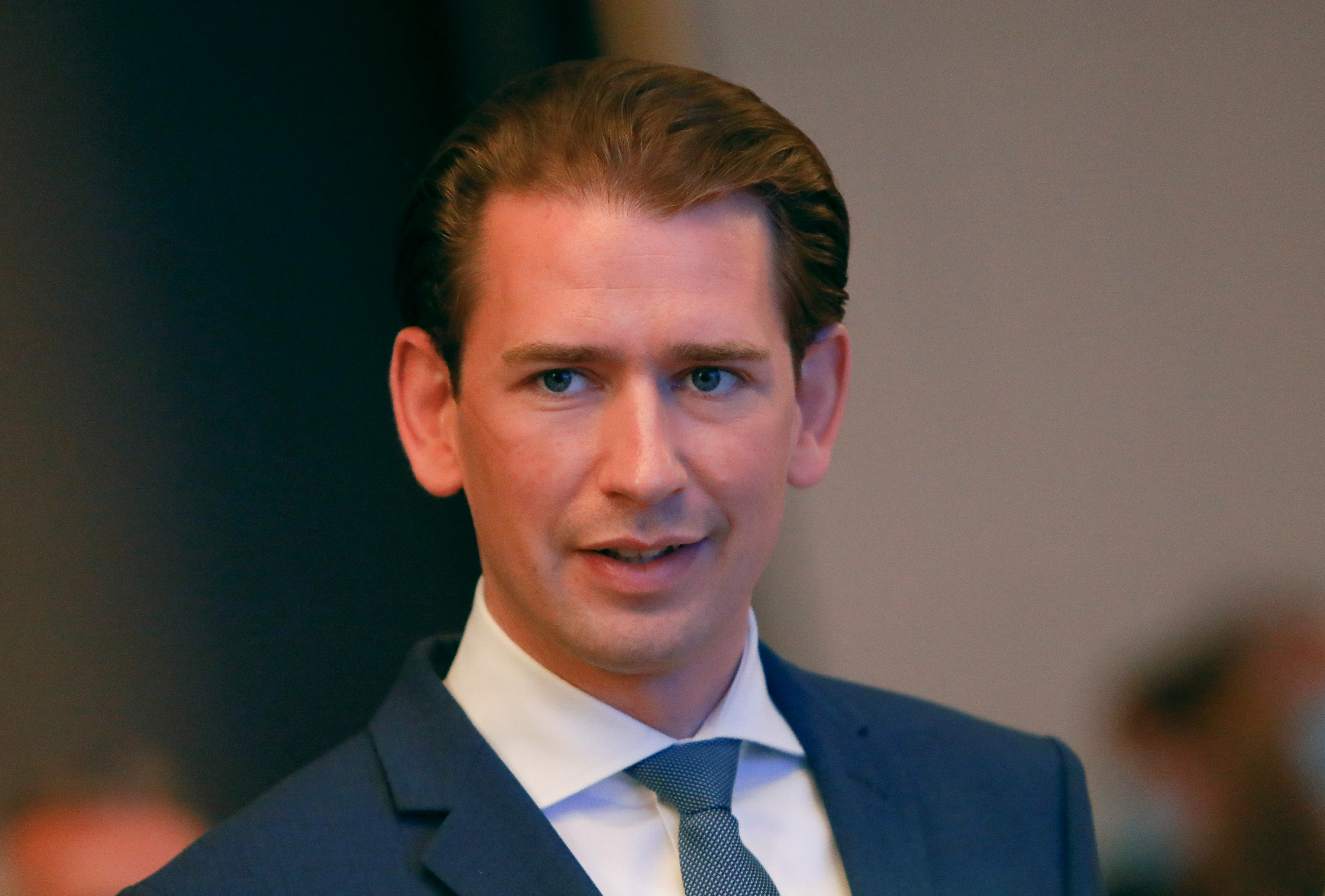 Austrian Chancellor Sebastian Kurz arrives for a European People's Party (EPP) meeting in Berlin, Germany, September 9, 2021. REUTERS/Michele Tantussi/File Photo