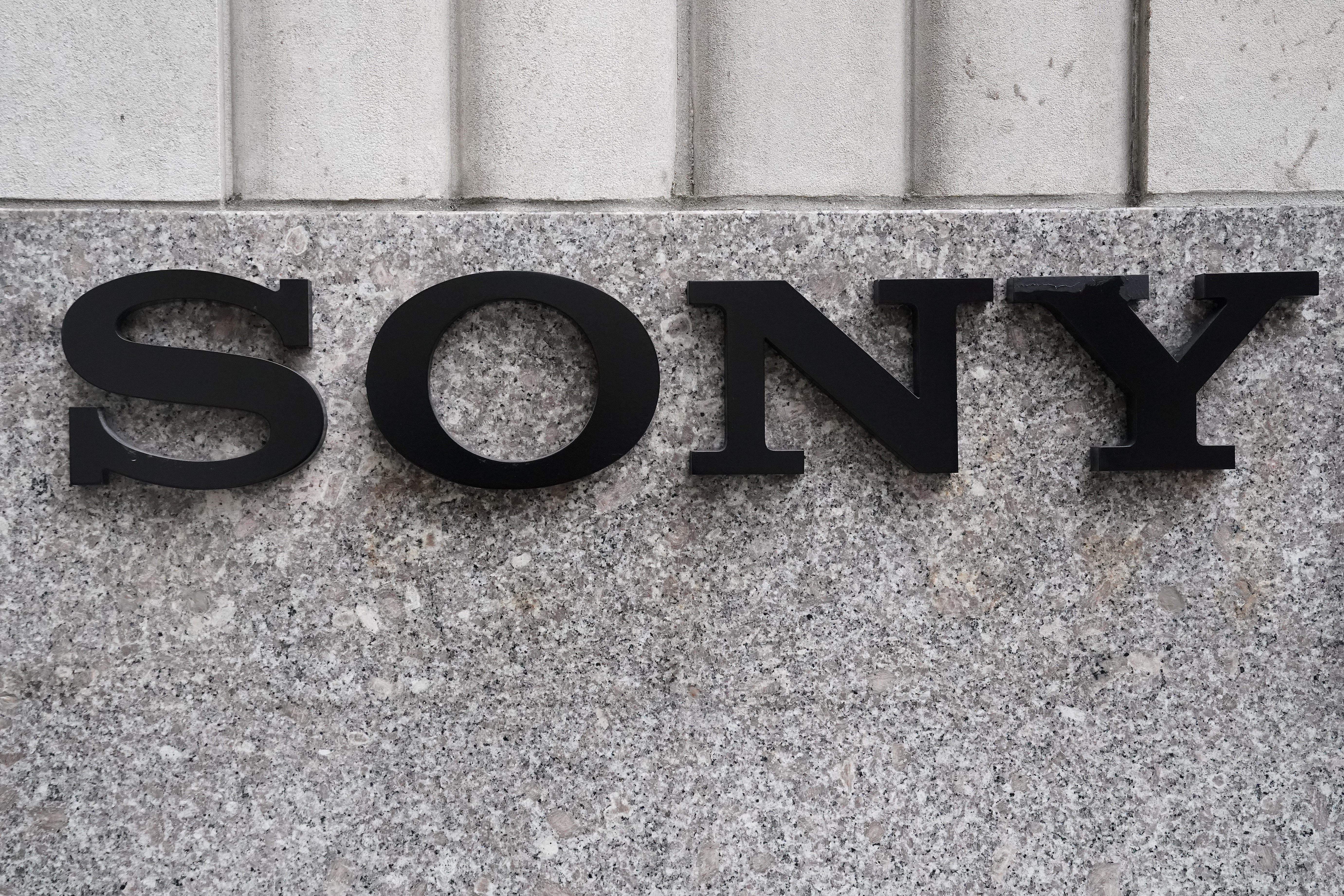 The Sony logo is seen on a building in the Manhattan borough of New York City, New York, U.S., January 16, 2019. REUTERS/Carlo Allegri