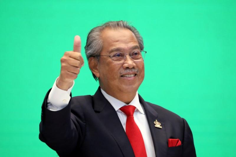 Malaysia's Prime Minister Muhyiddin Yassin gestures during virtual APEC Economic Leaders Meeting 2020, in Kuala Lumpur, Malaysia November 20, 2020. REUTERS/Lim Huey Teng/File Photo