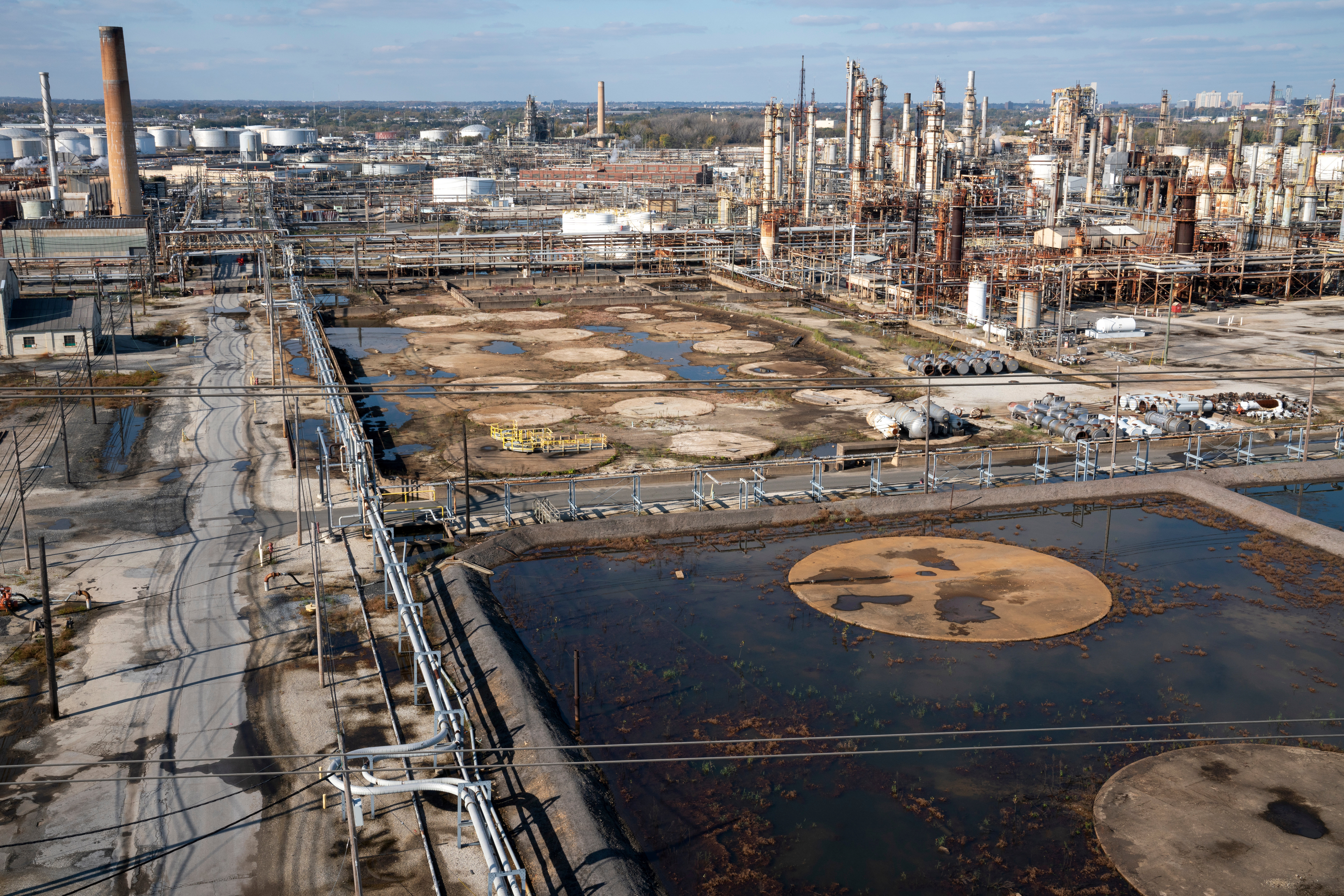 A general view of the PES Refinery in Philadelphia, Pennsylvania, U.S., October 31, 2020. Picture taken October 31, 2020. REUTERS/Dane Rhys