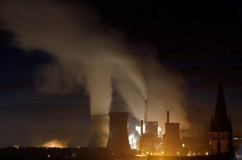 Smoke and steam billows from the Emile Huchet Power Station operated by UNIPER in Carling, eastern France, December 11, 2018. REUTERS/Christian Hartmann/File Photo