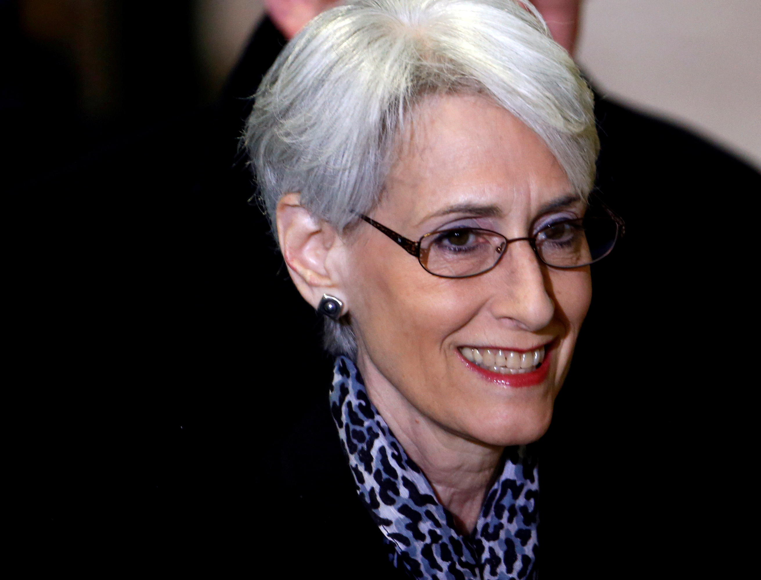 Wendy Sherman arrives for a meeting on Syria at the United Nations European headquarters in Geneva February 13, 2014.    REUTERS/Denis Balibouse/File Photo
