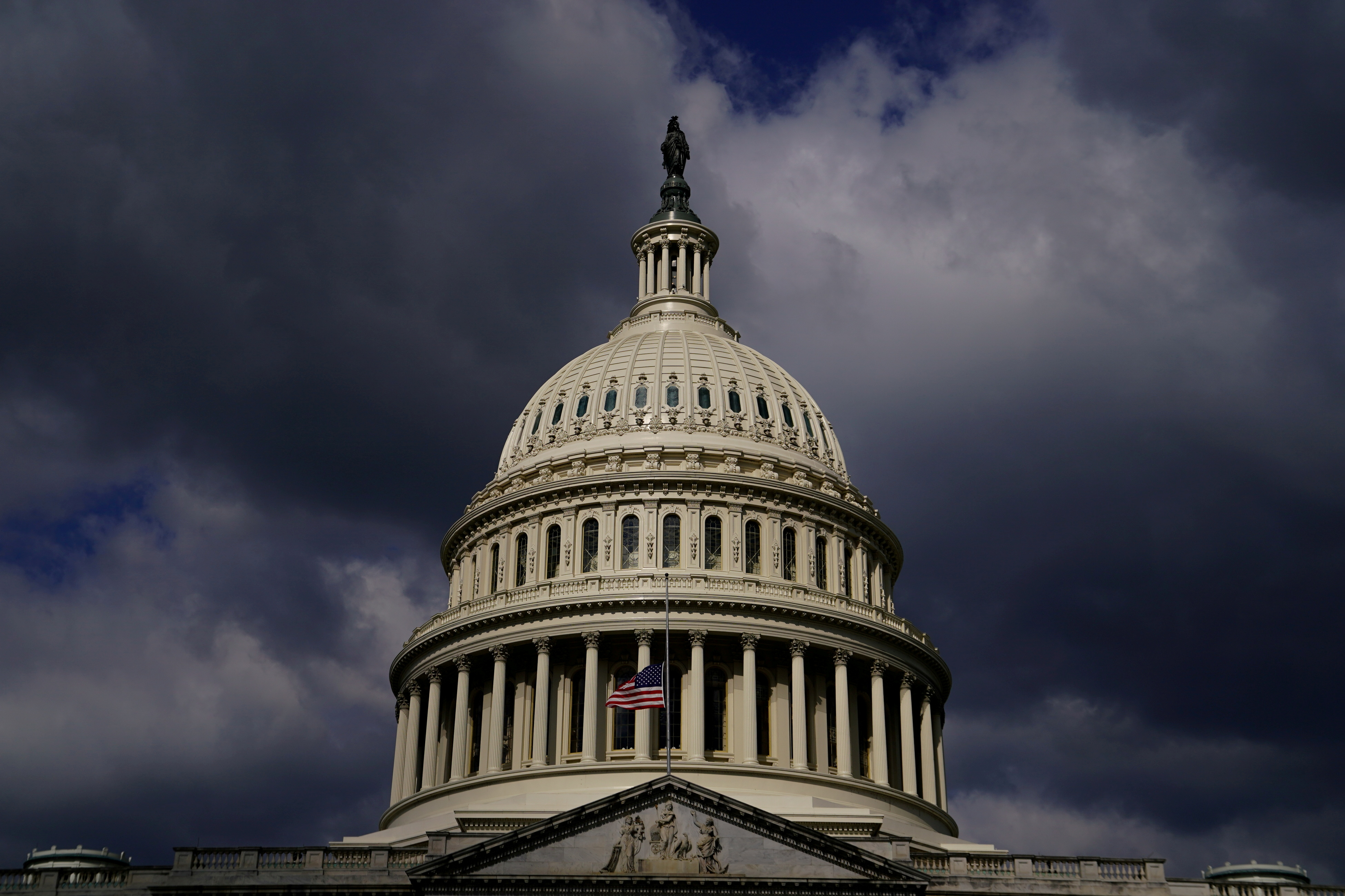 A general view of the U.S. Capitol in Washington, U.S., April 22, 2021. REUTERS/Erin Scott/File Photo
