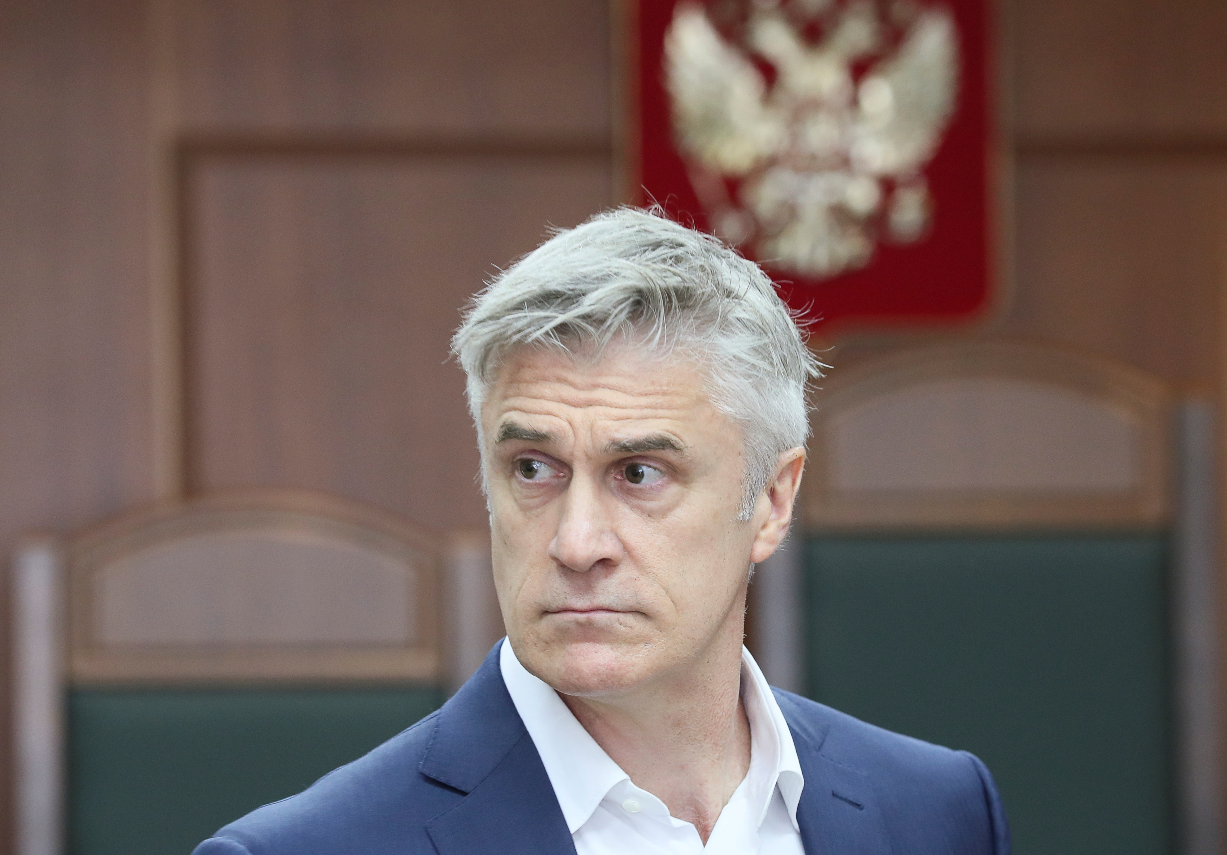 U.S. investor and founder of the Baring Vostok private equity group Michael Calvey, who is under house arrest on suspicion of fraud, attends a court hearing in Moscow, Russia August 15, 2019. REUTERS/Evgenia Novozhenina