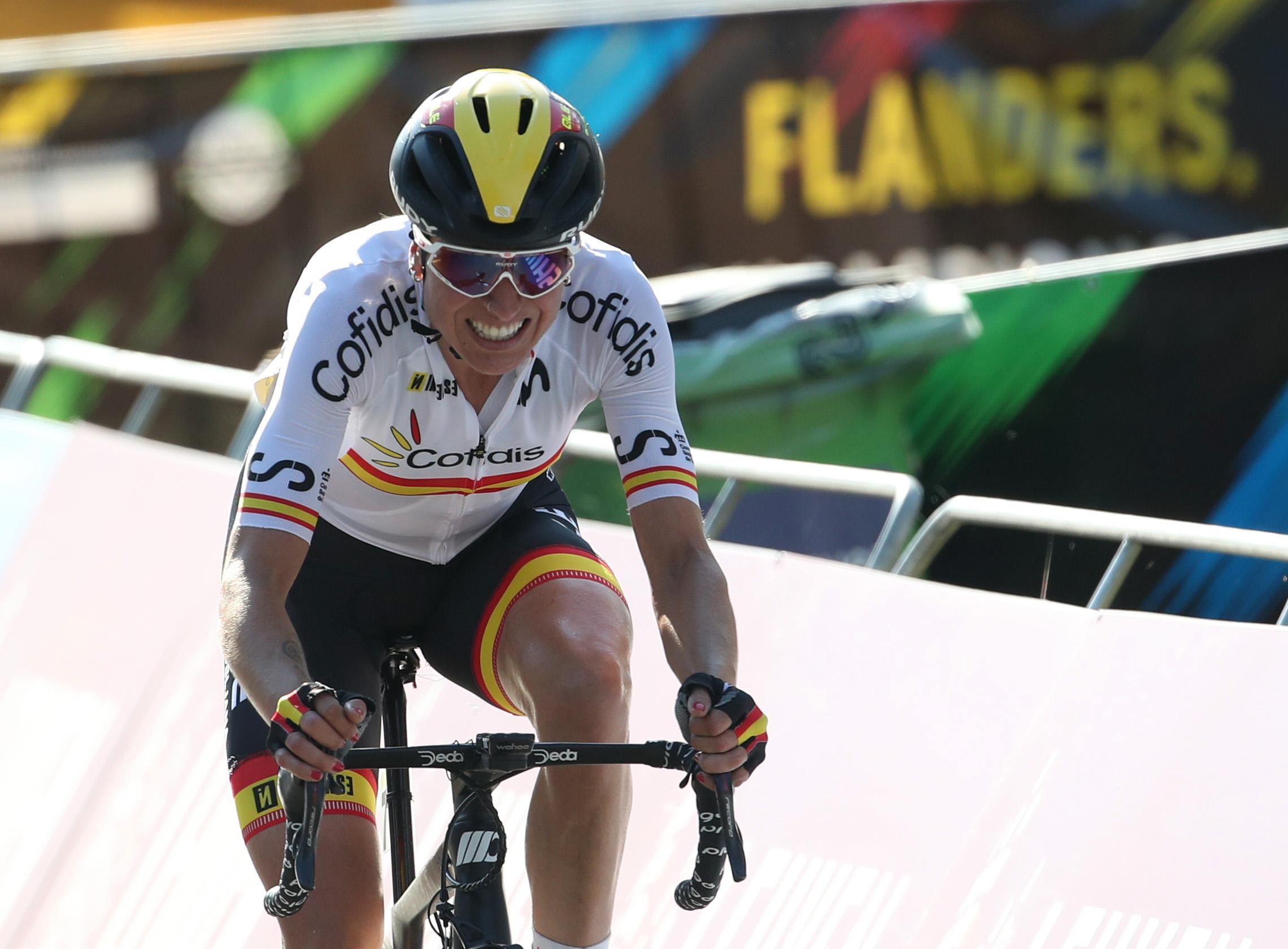 Cycling - UCI Road World Championships -  Leuven, Belgium - September 25, 2021 Spain's Mavi Garcia in action REUTERS/Yves Herman